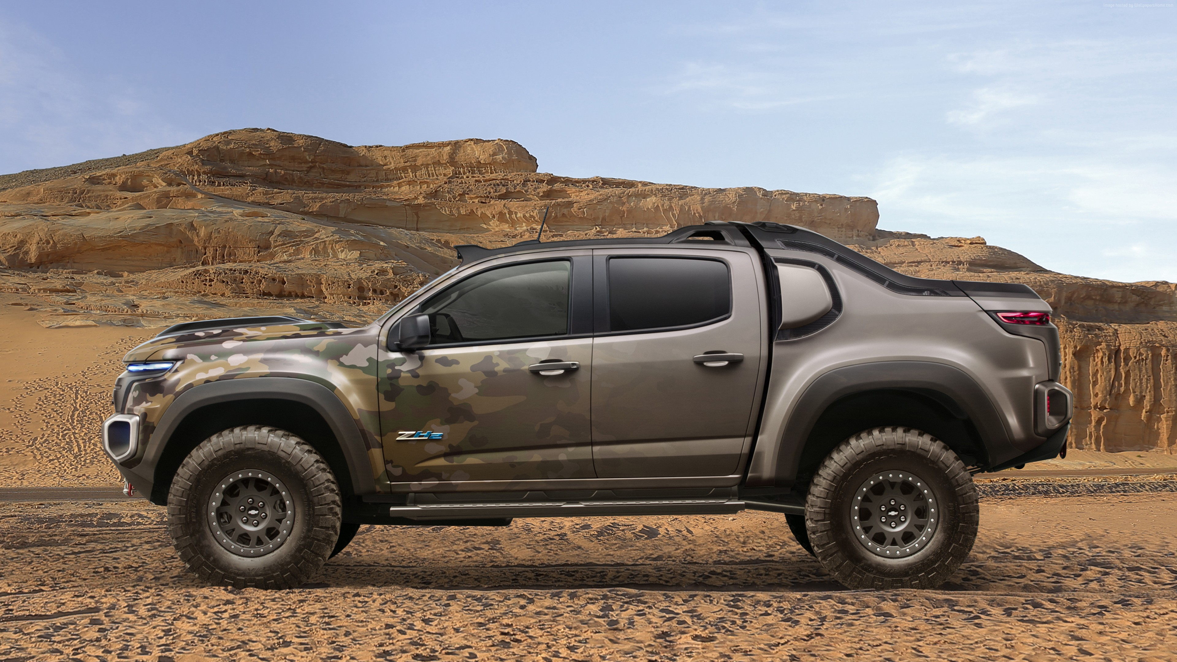 Wallpaper Chevrolet Colorado ZH2, Electric cars, U.S. Army, Vehicle, Military