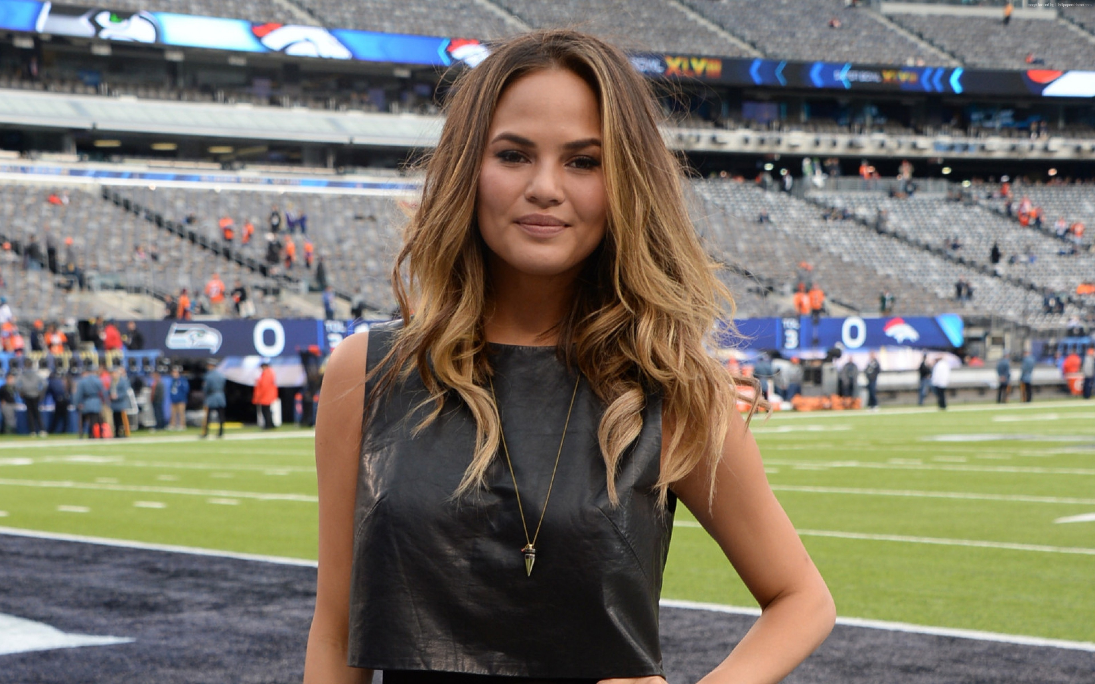 Wallpaper Chrissy Teigen, hot, 4k, Girls