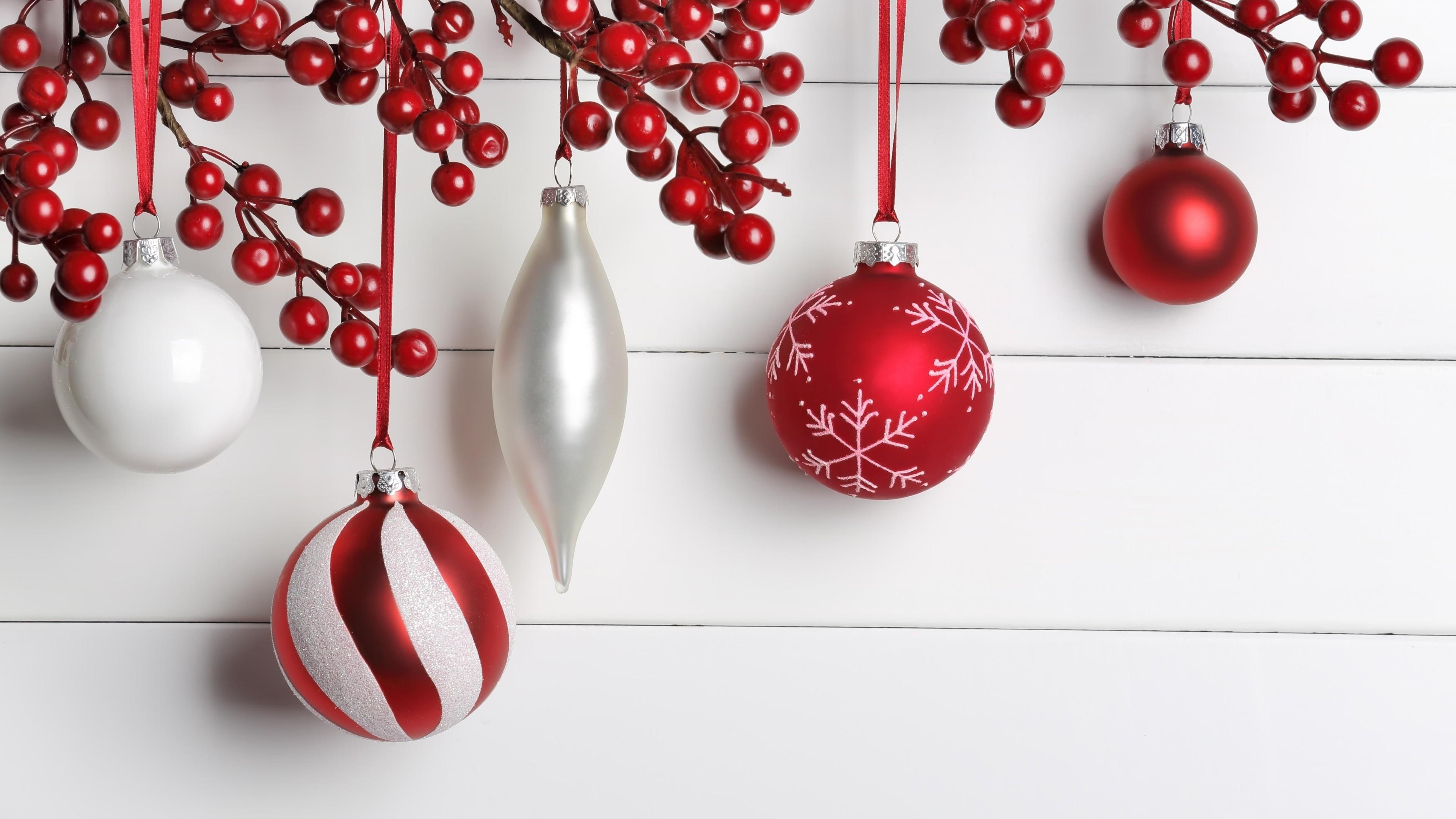 Wallpaper Christmas, New Year, Balls, Decorations, 5K, Holidays 5K, Balls,