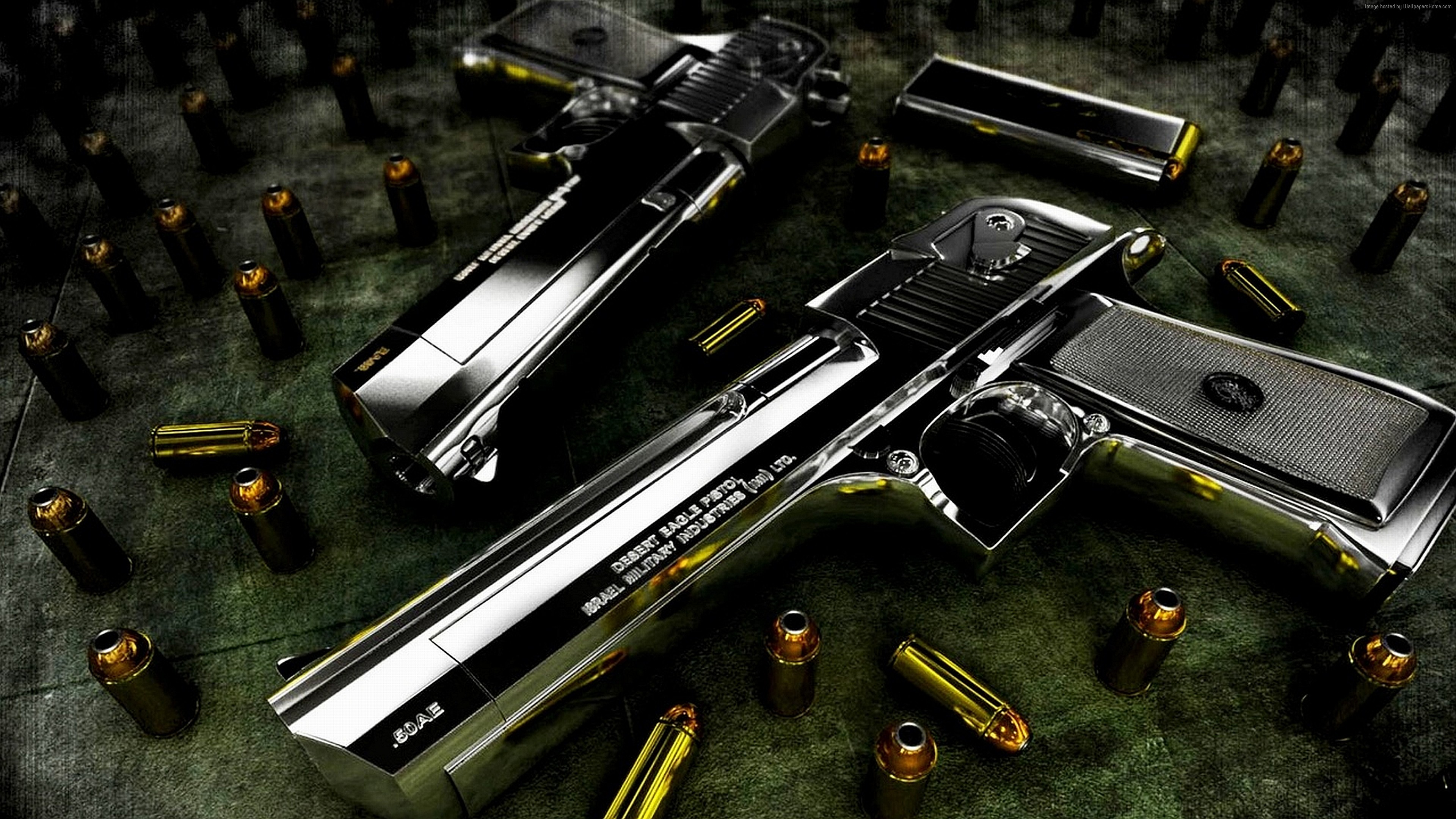Wallpaper Desert Eagle, pistol, bullets, Military