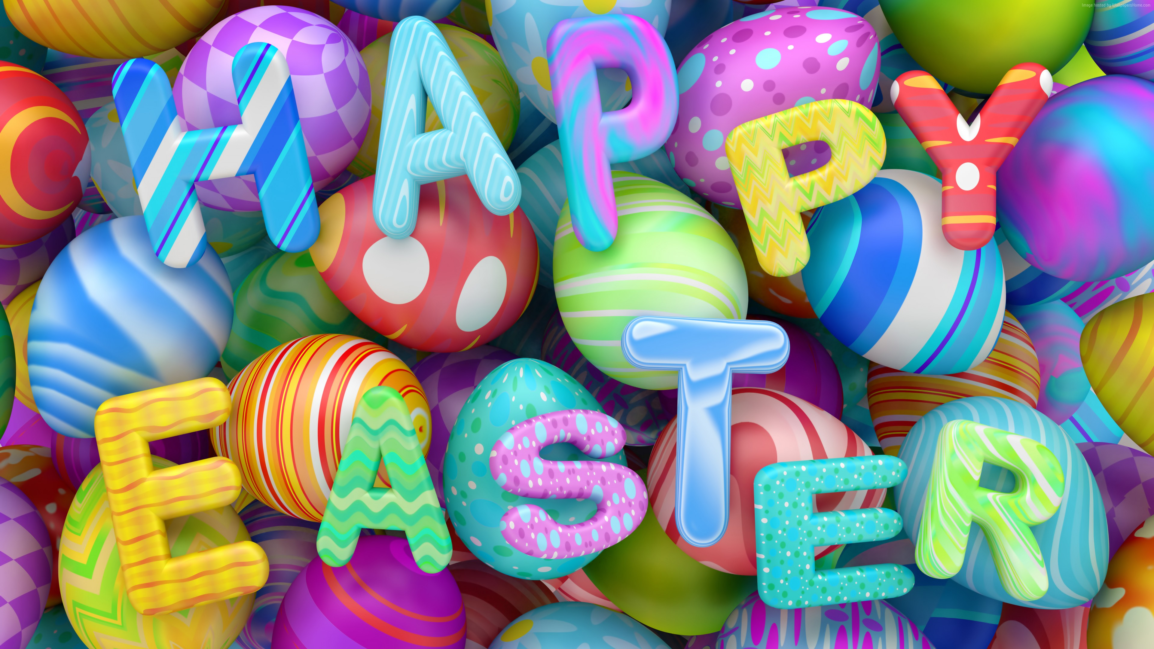 Wallpaper Easter, eggs, 8k, Holidays