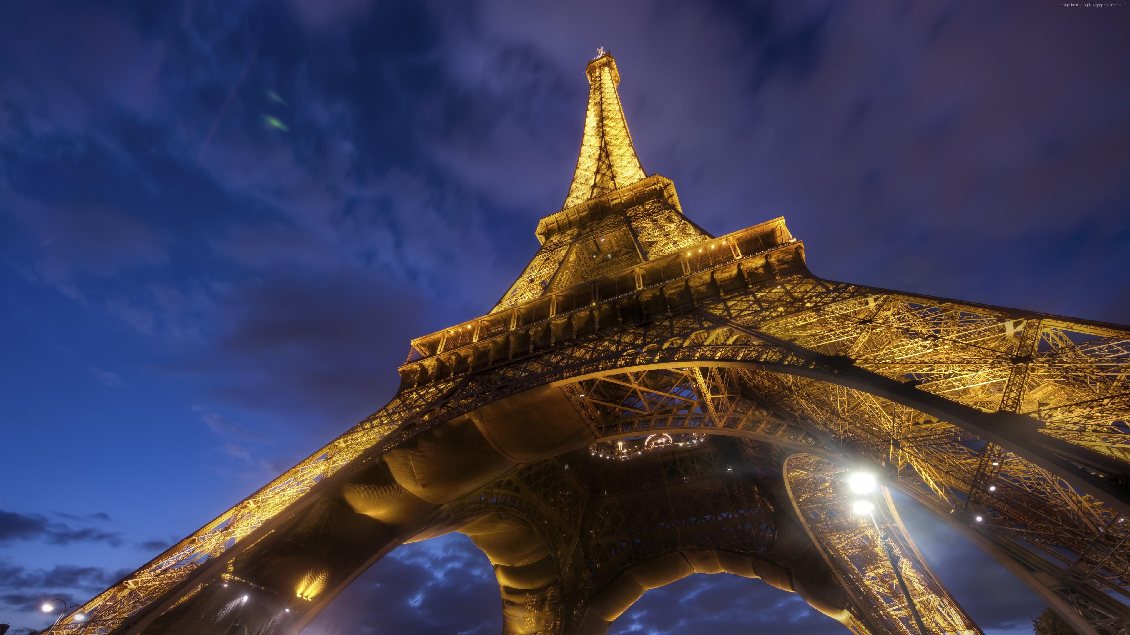 Wallpaper Eiffel Tower Paris France Travel Tourism Architecture Wallpaper Download High Resolution 4k Wallpaper