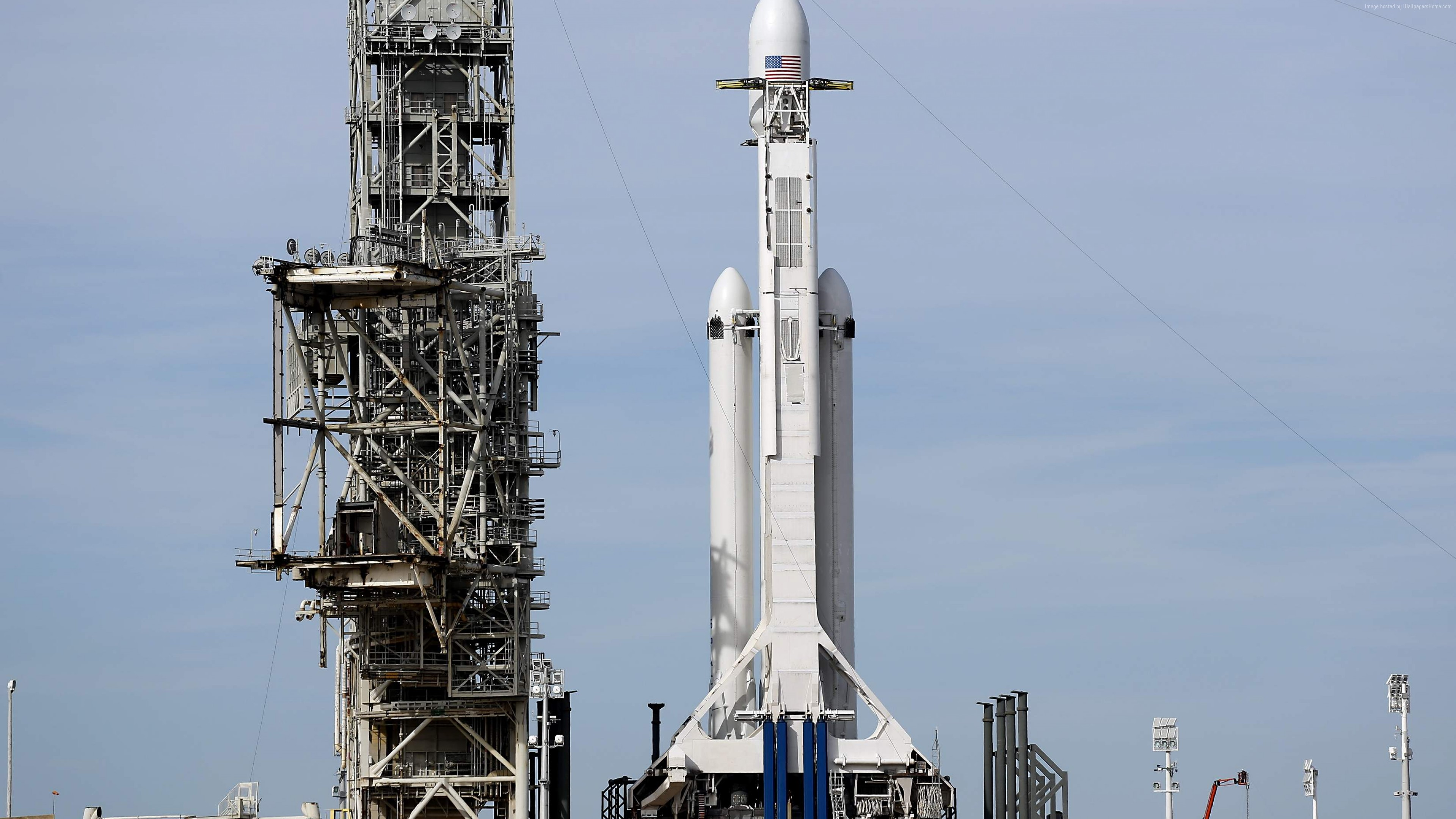 Wallpaper Falcon Heavy, Space X, Launching, Space