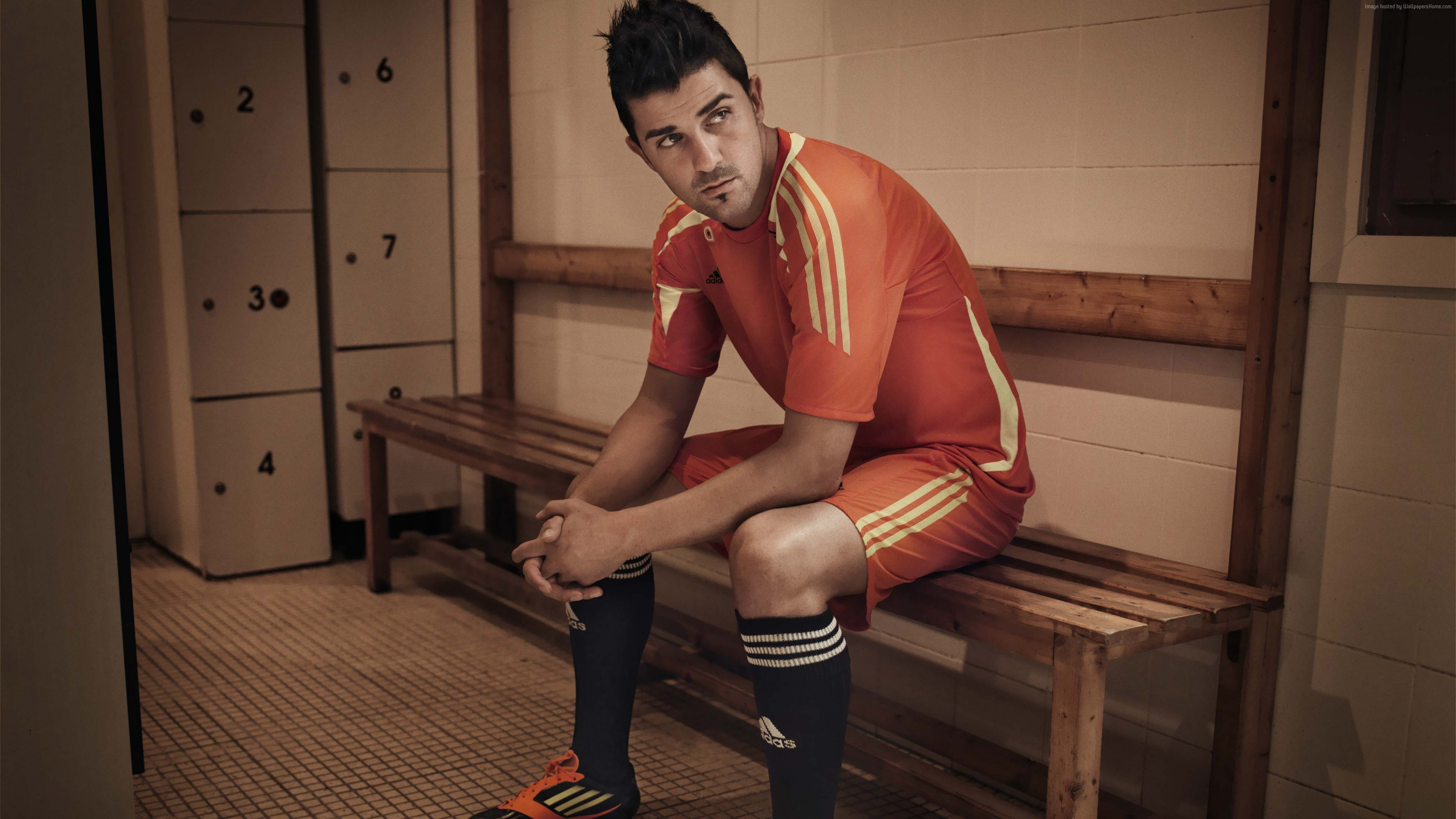 Wallpaper Football, David Villa, The best football players, New York City, Sport