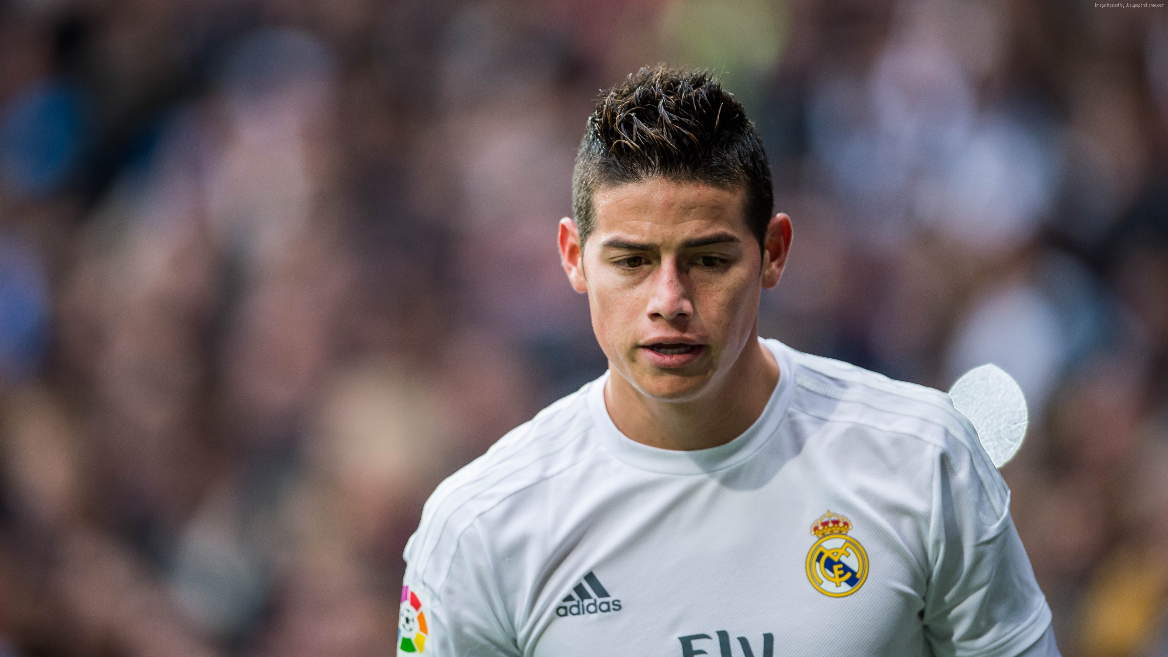 Wallpaper Football, James Rodríguez, The best players 2016, FIFA World Cup, Real Madrid, footballer, James David Rodríguez Rubio, Sport