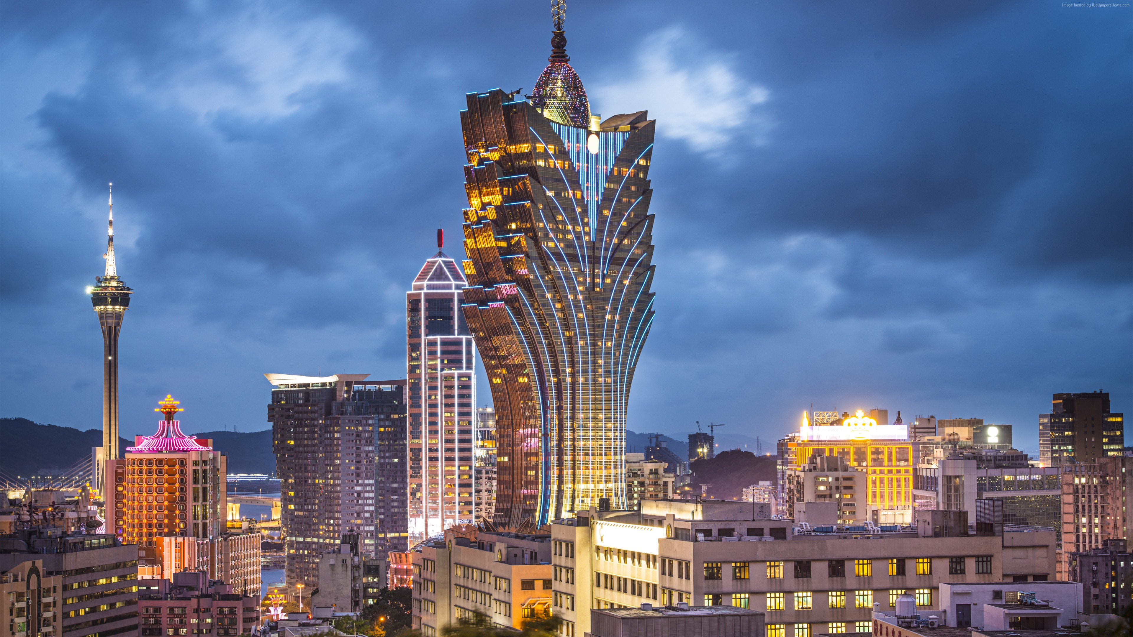 Wallpaper Grand Lisboa, Makao, China, Best hotels, tourism, travel, resort, booking, vacation, Architecture