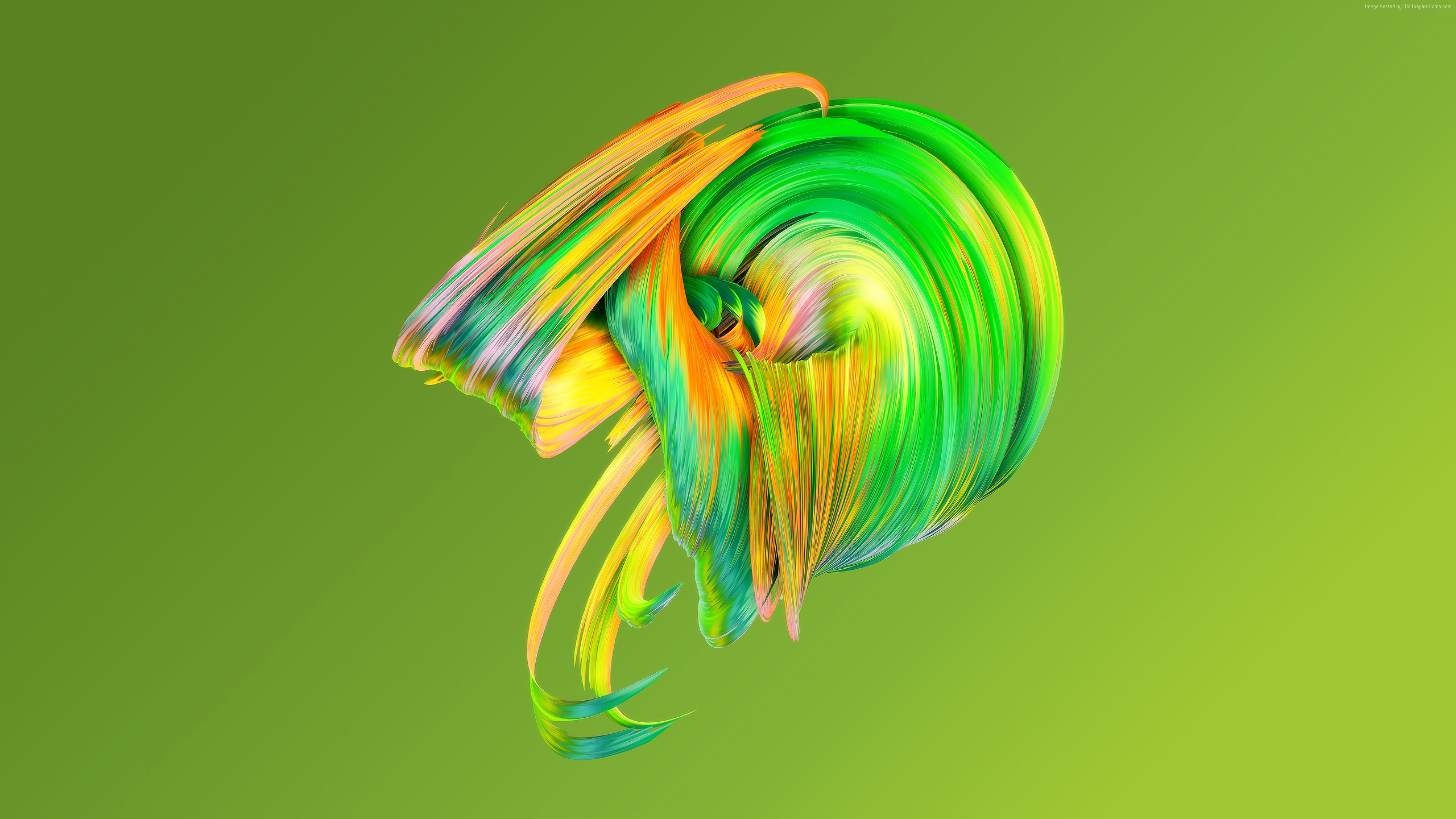 Wallpaper Hd Abstract Paintwaves Green Abstract