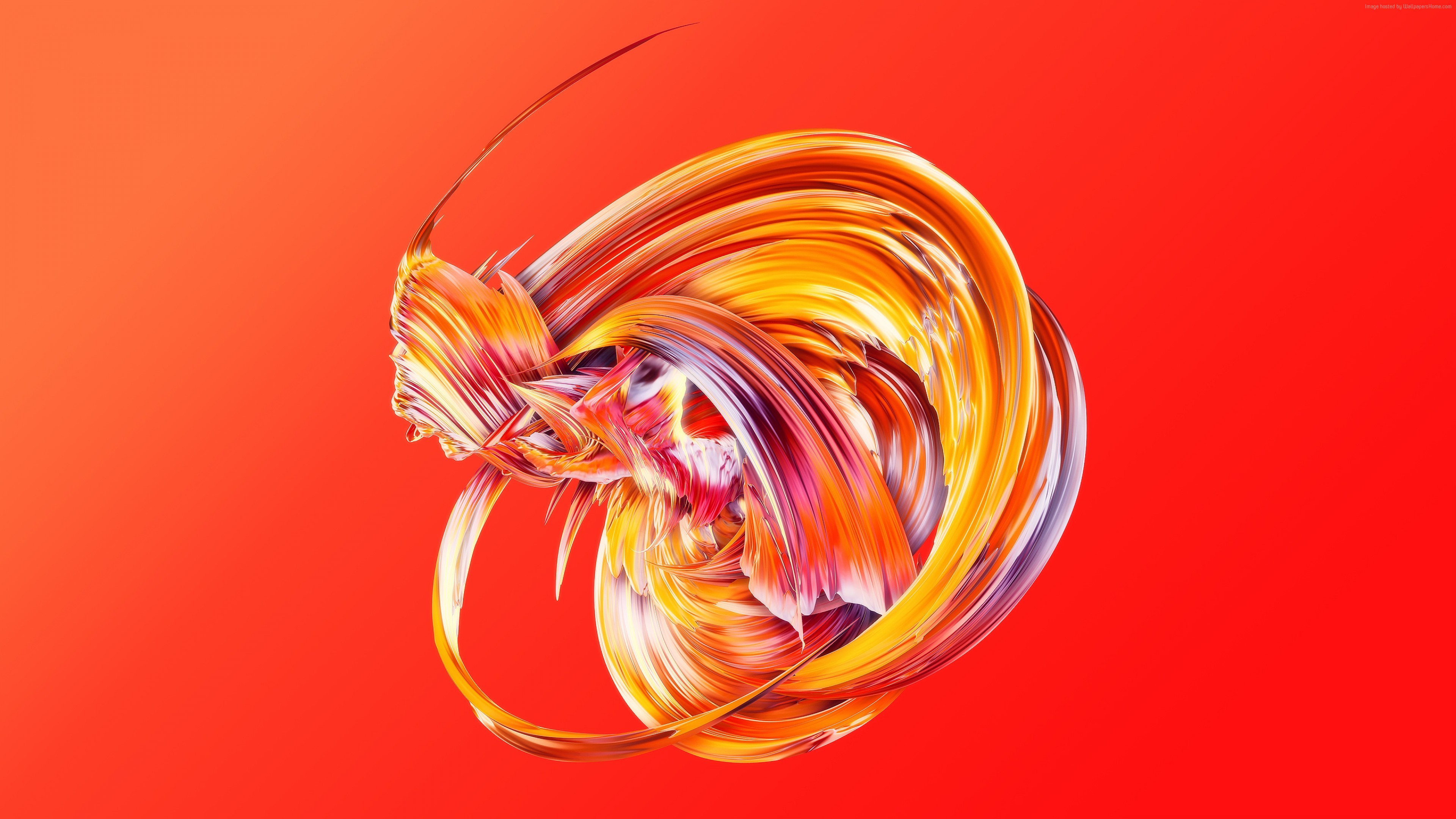 Wallpaper Hd Abstract Paintwaves Red Abstract Wallpaper