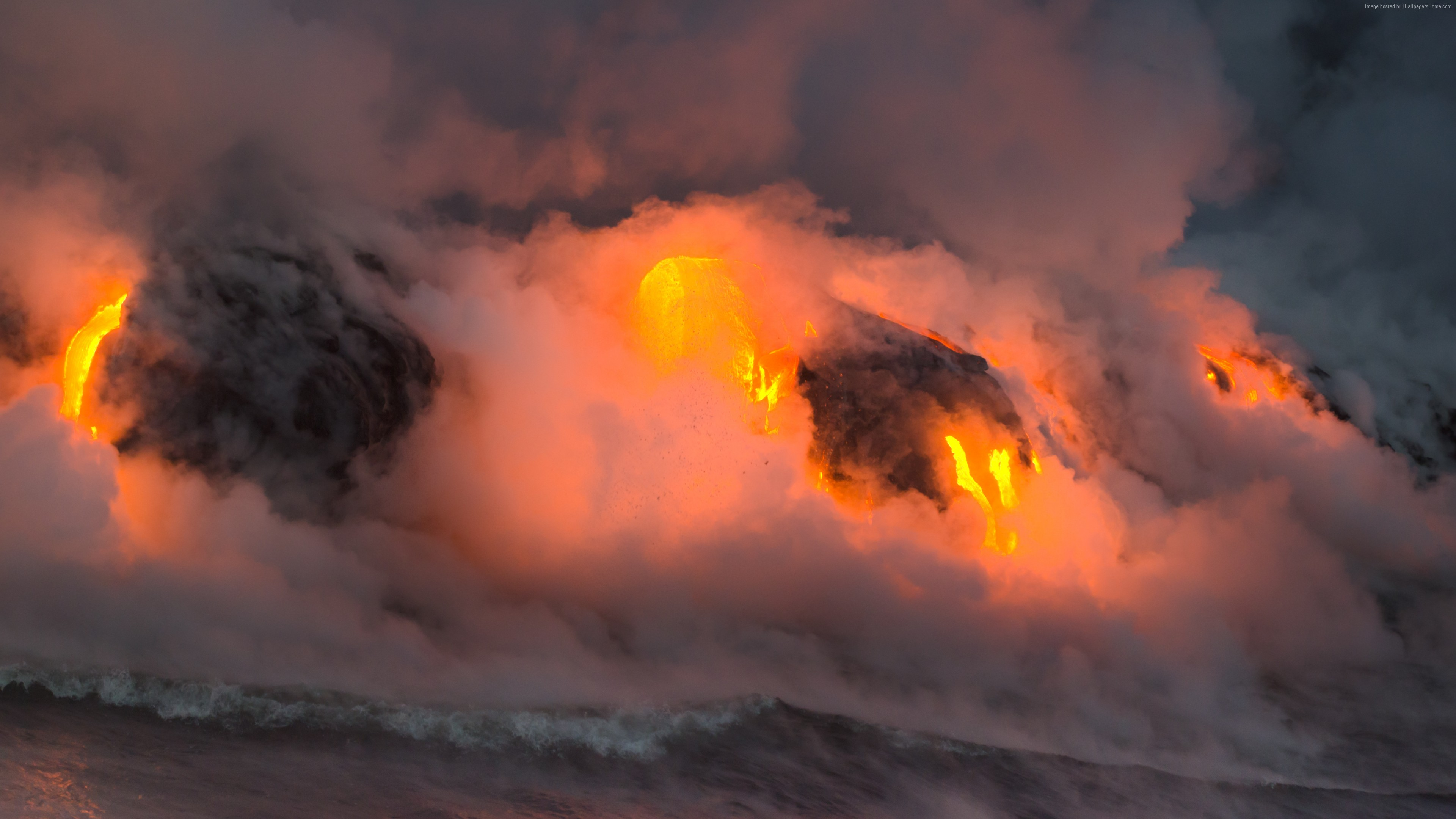 Wallpaper Hawaii, 5k, 4k wallpaper, 8k, eruption, volcano, travel, tourism, lava, National Geographic Traveler Photo Contest, Travel