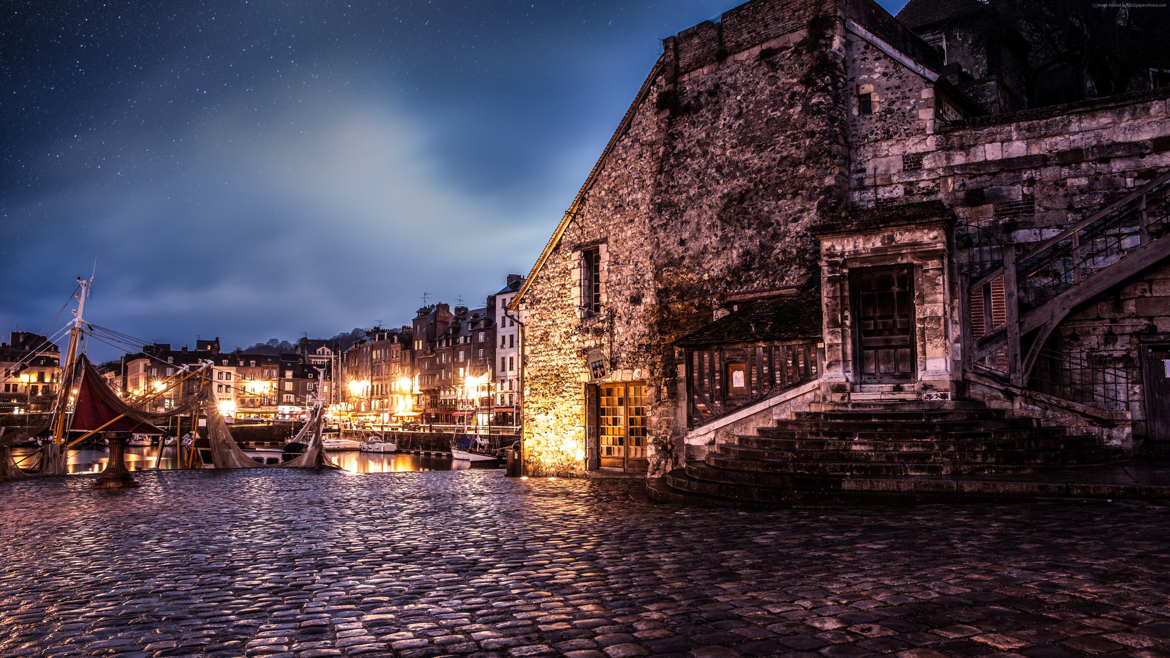 Wallpaper Honfleur, France, travel, tourism, booking, Architecture