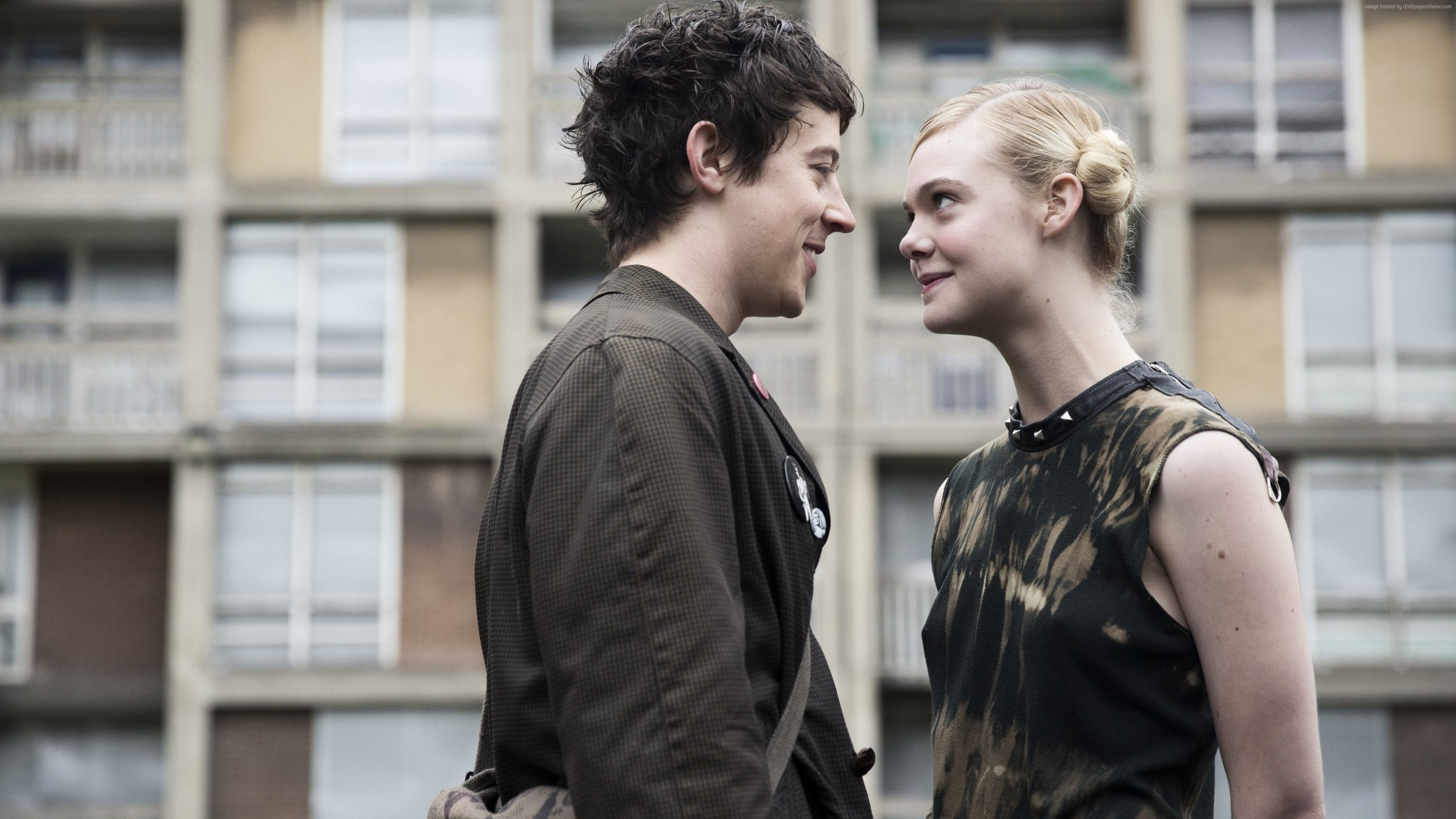 Wallpaper How to Talk to Girls at Parties, Elle Fanning, Alex Sharp, Movies