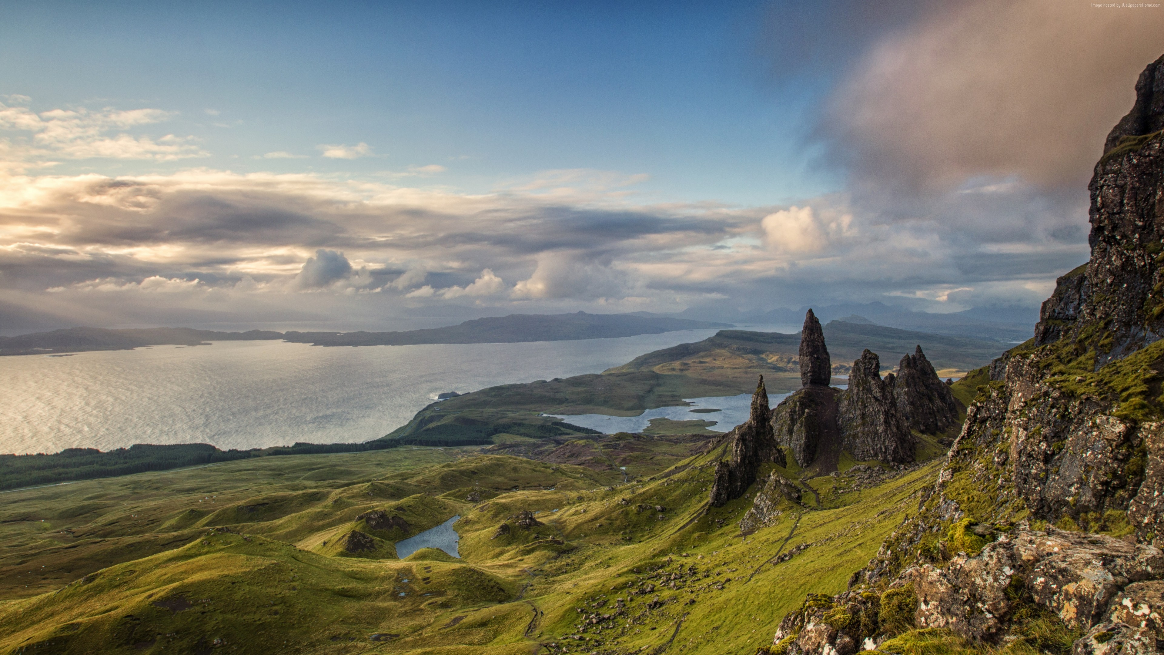 Wallpaper Isle of Skye, Scotland, Europe, nature, mountains, sky, 4k, Nature