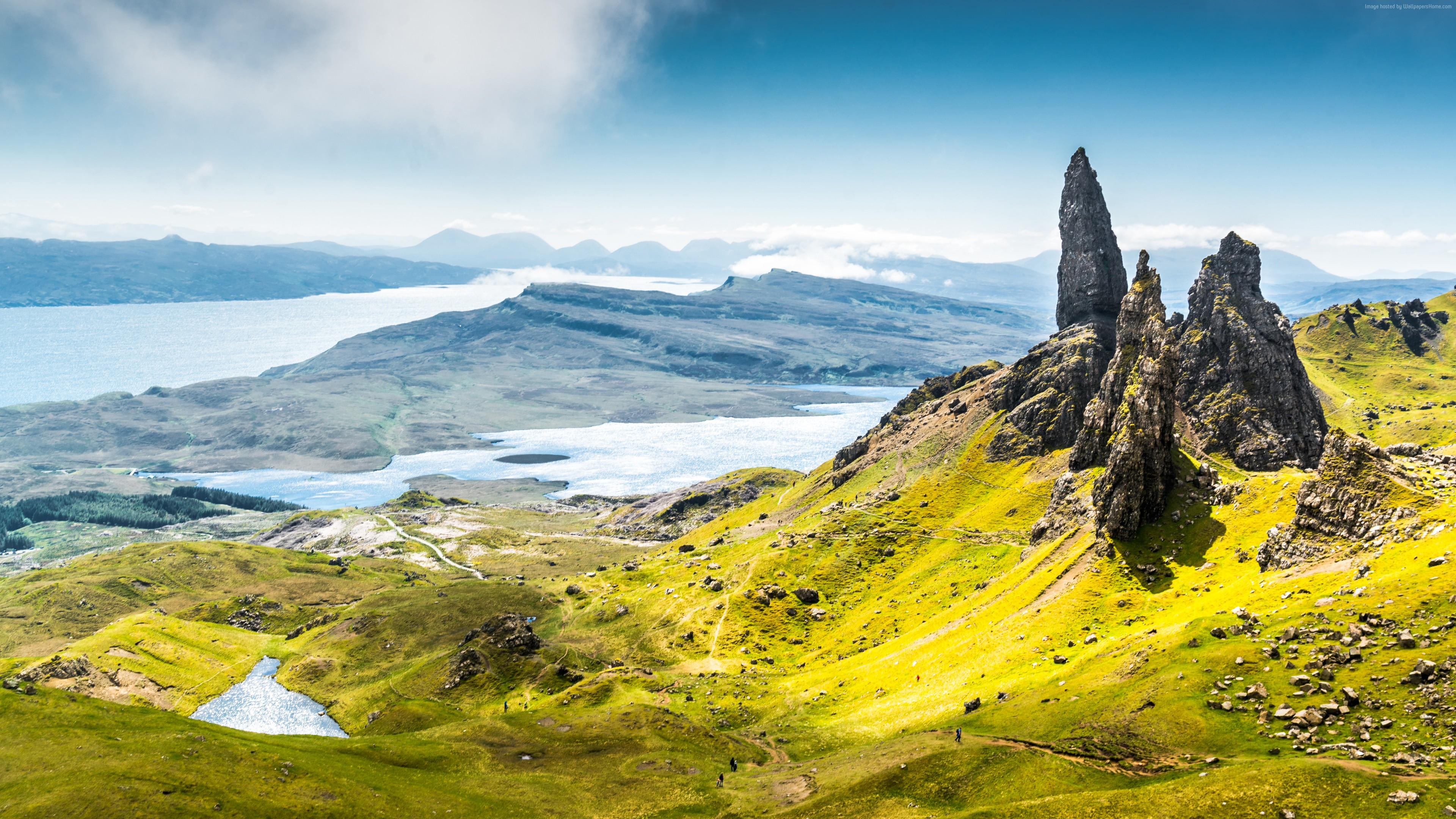 Wallpaper Isle of Skye, Scotland, Europe, nature, travel, 8k, Travel