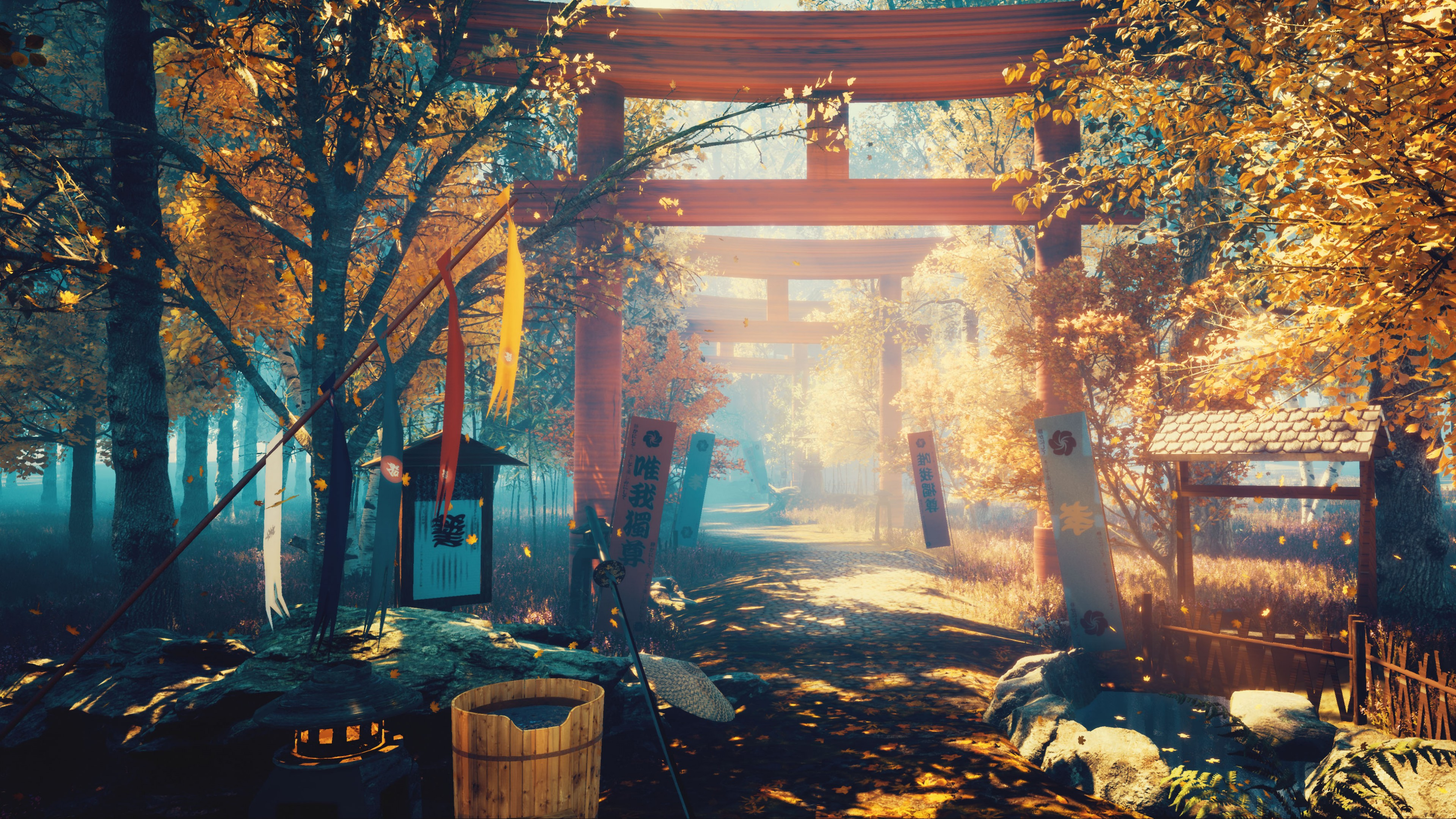 Wallpaper Japan, Scenery, Oriental, 4K, 5K, Art Wallpaper ...
