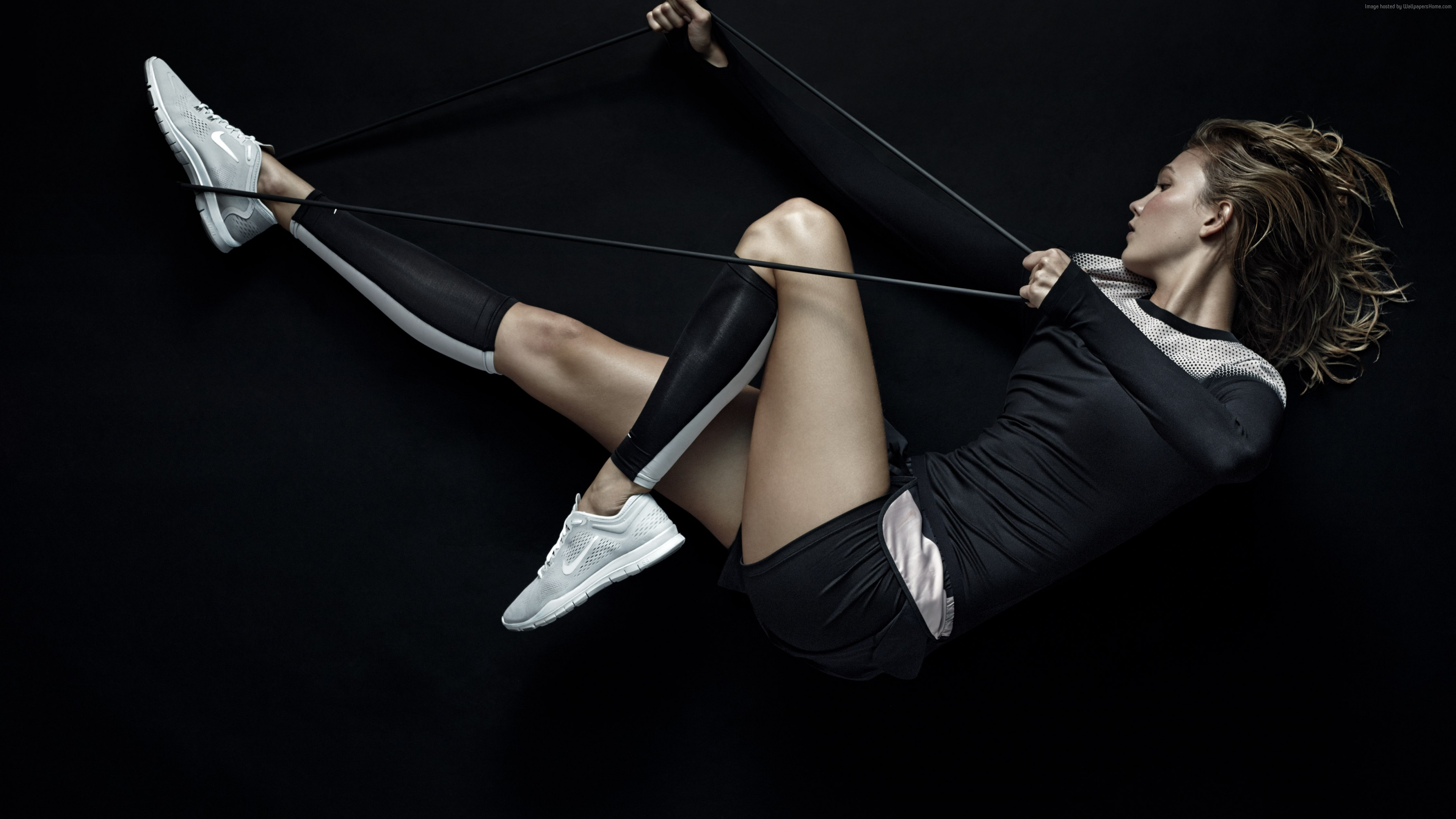 Wallpaper Karlie Kloss, Nike, weight loss, relax, Fitness, Sport