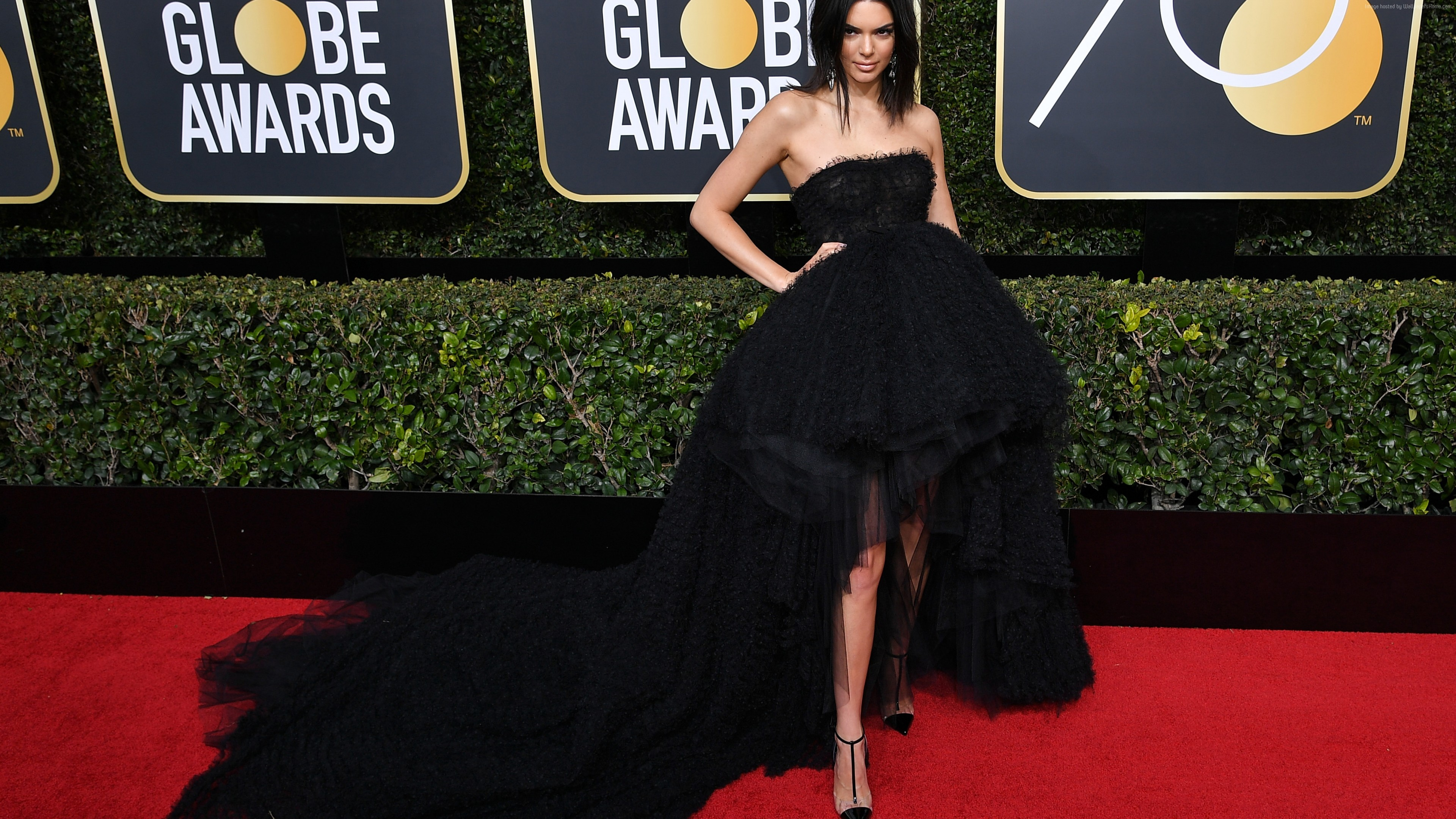 Wallpaper Kendall Jenner, dress, Golden Globes 2018, 4k, Girls