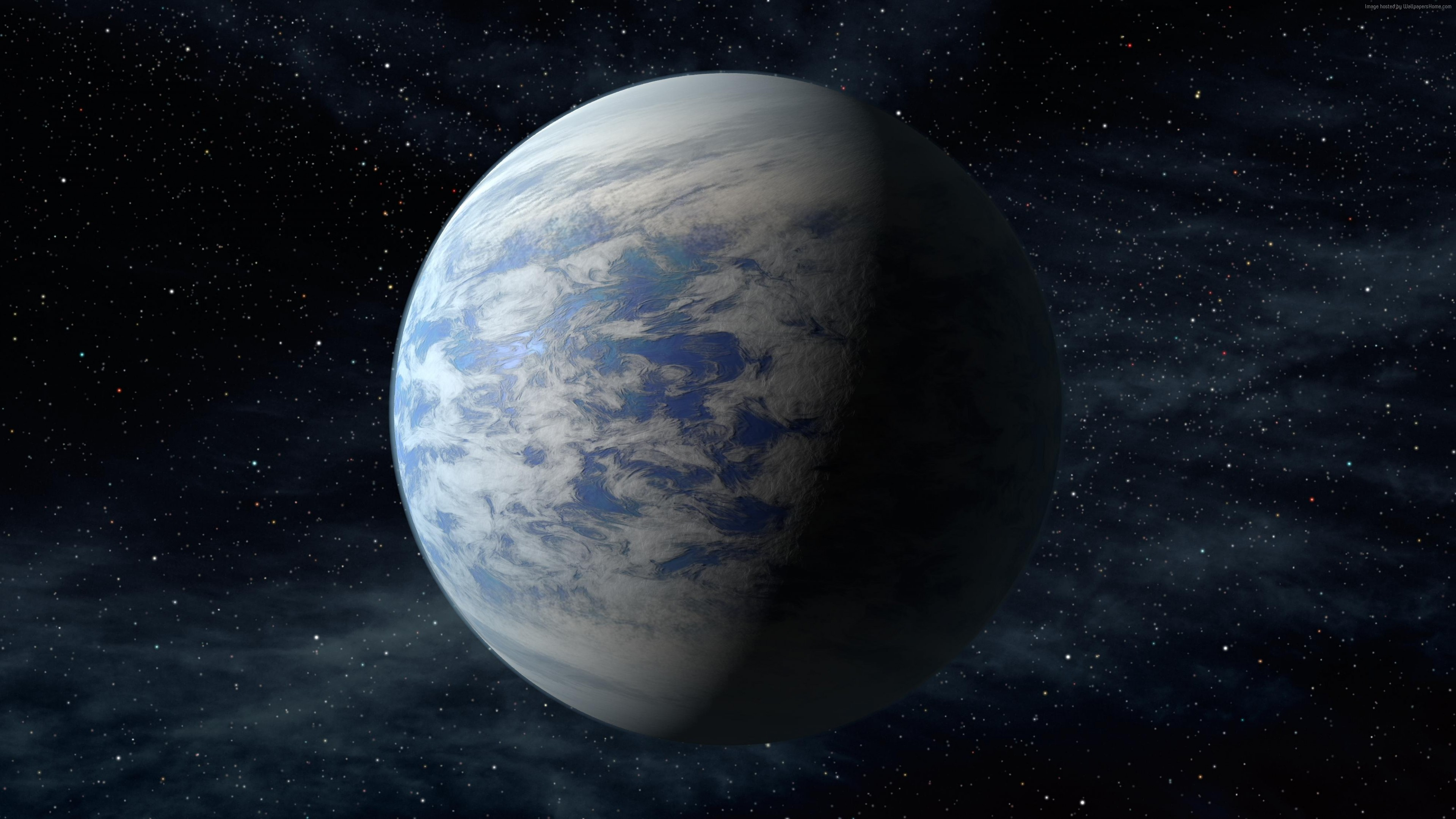Wallpaper Kepler-452b, Exoplanet, Planet, space, stars, Space