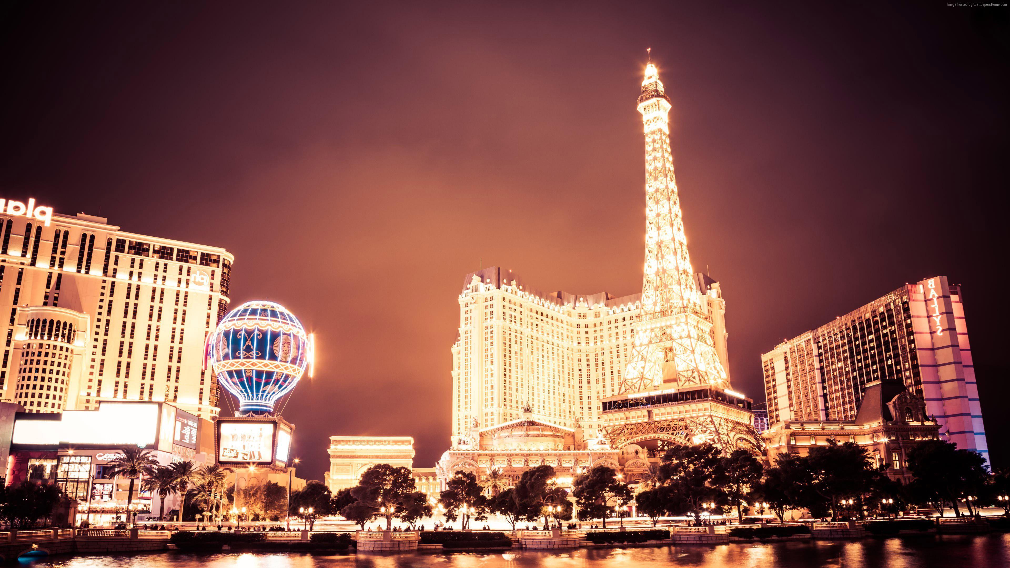 Wallpaper Las Vegas Usa Night Travel Tourism Architecture Wallpaper Download High Resolution 4k Wallpaper