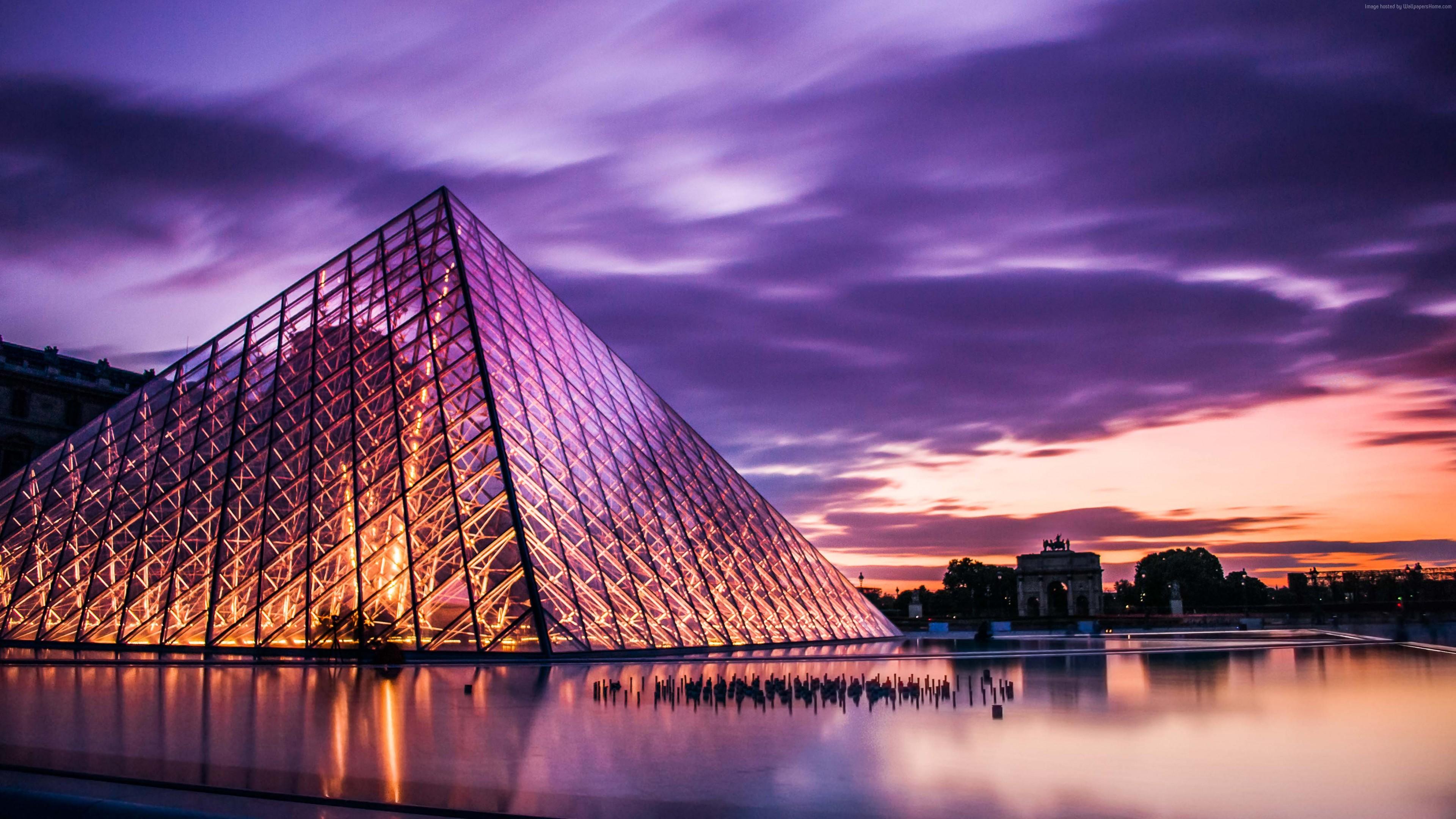 Wallpaper Louvre Paris France Travel Tourism Travel Wallpaper Download High Resolution 4k Wallpaper