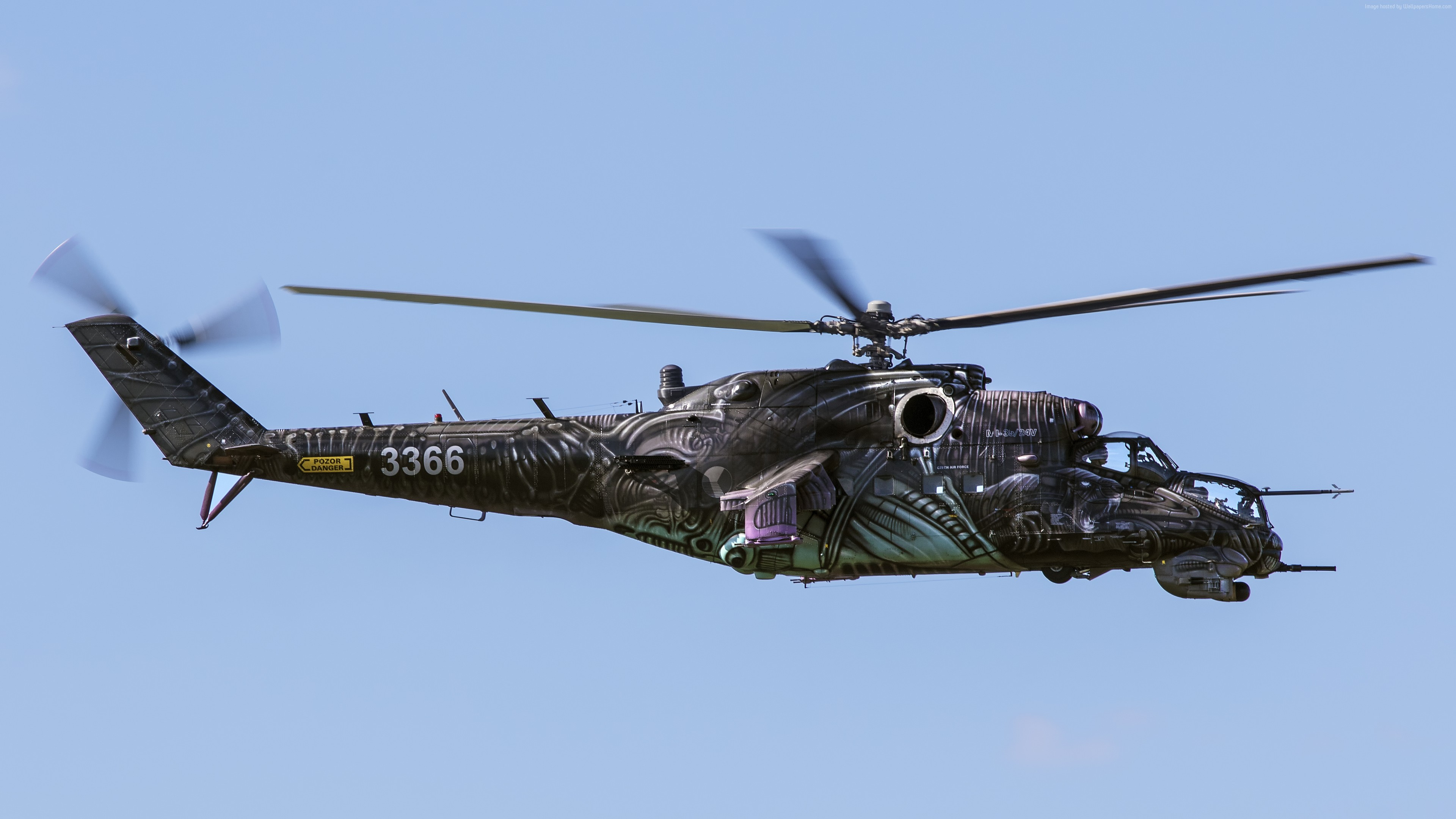 Wallpaper MI-24, Russian army, fighter helicopter, Russian air force, Military