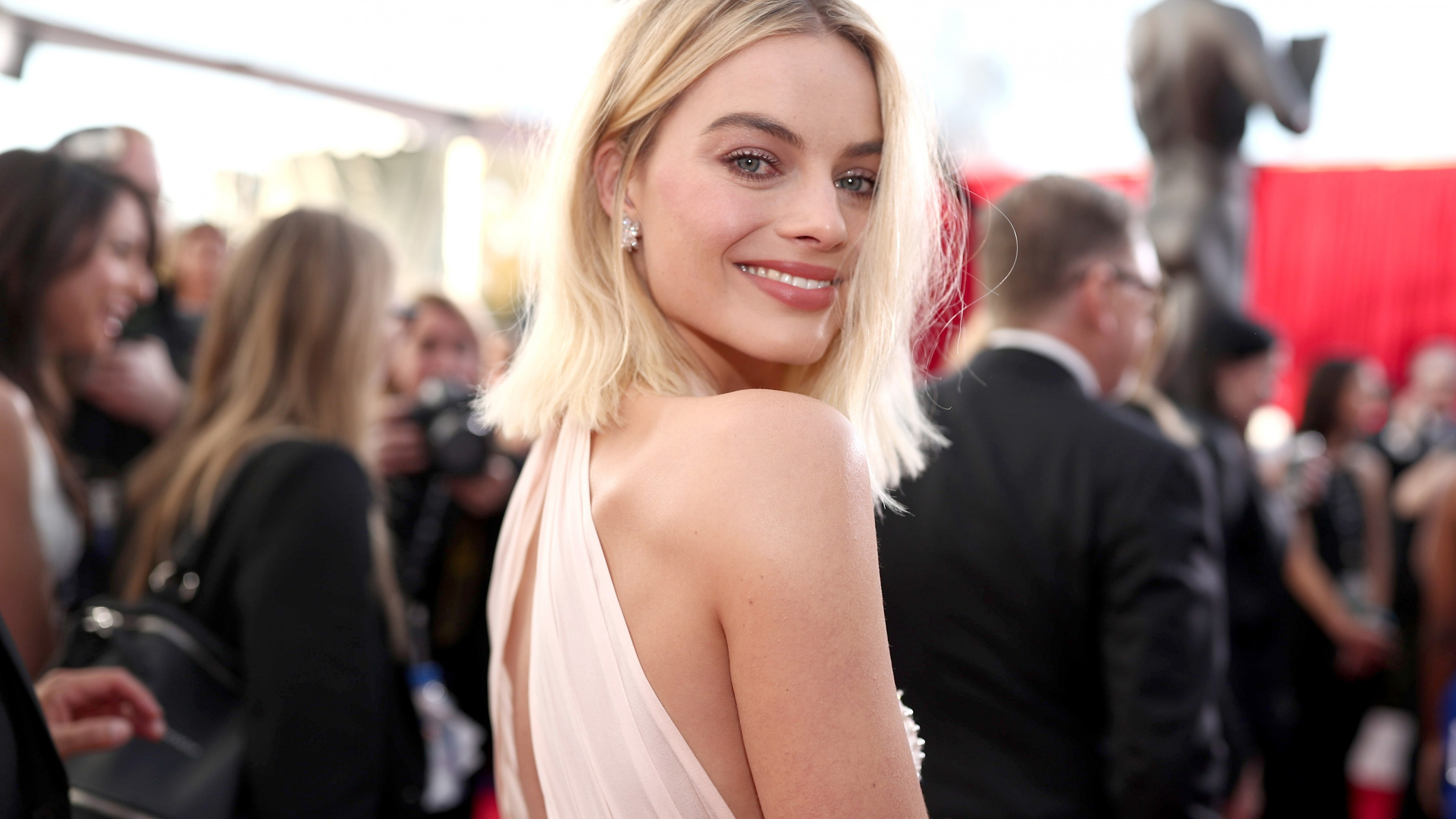 Wallpaper Margot Robbie, photo, Screen Actors Guild Awards 2018, 4k, Celebrities