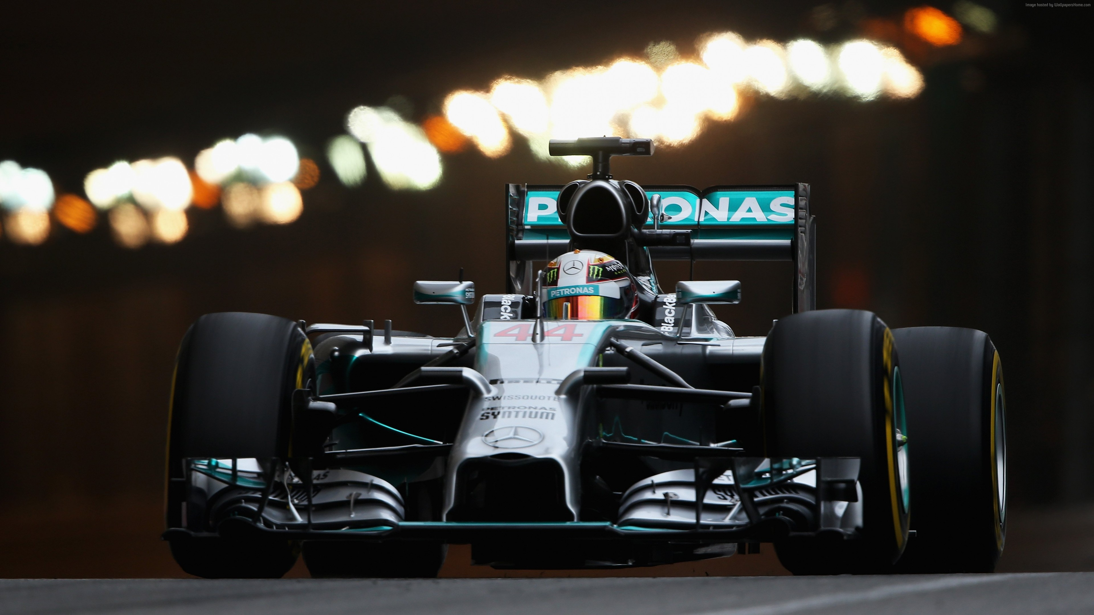 Wallpaper Mercedes-Benz, Formula 1, F1, Lewis Hamilton, helmet, specs, sports car, racing, Sport