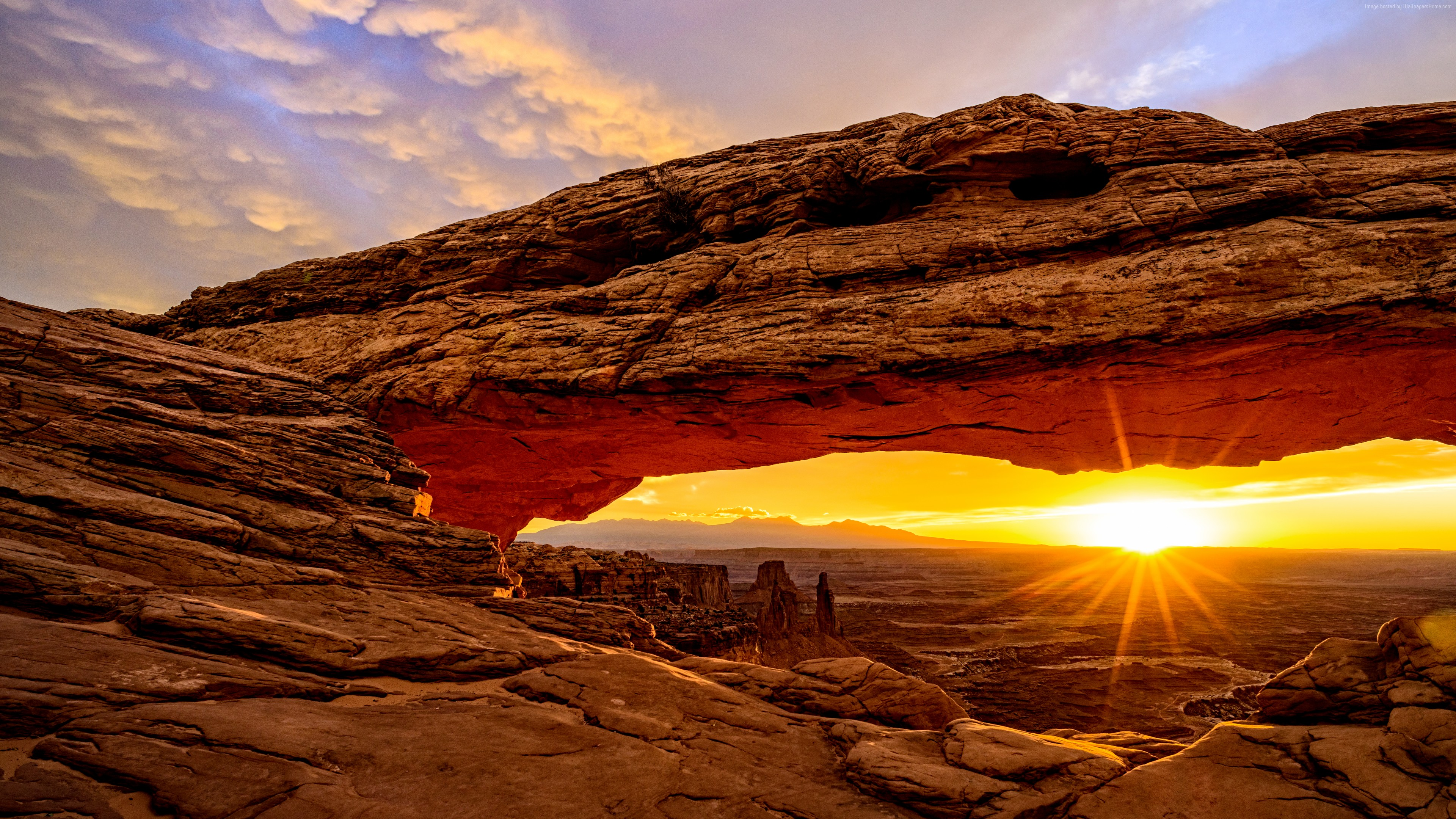 Wallpaper Mesa Arch, Utah, USA, mountains, sunrise, 8k, Travel