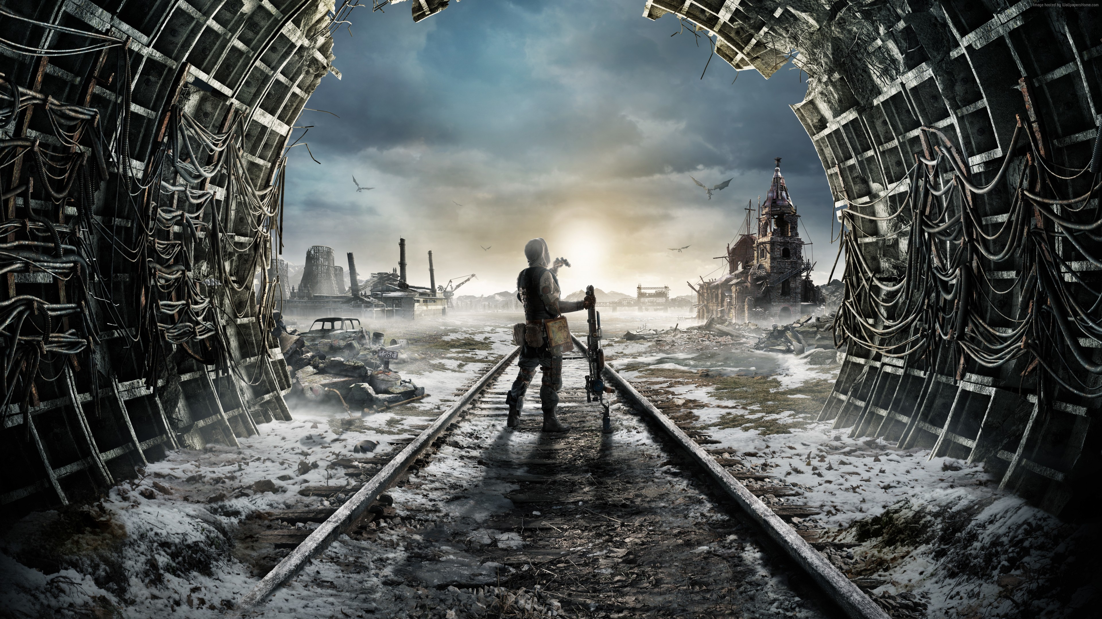 Wallpaper Metro Exodus, E3 2018, artwork, poster, 8K, Games