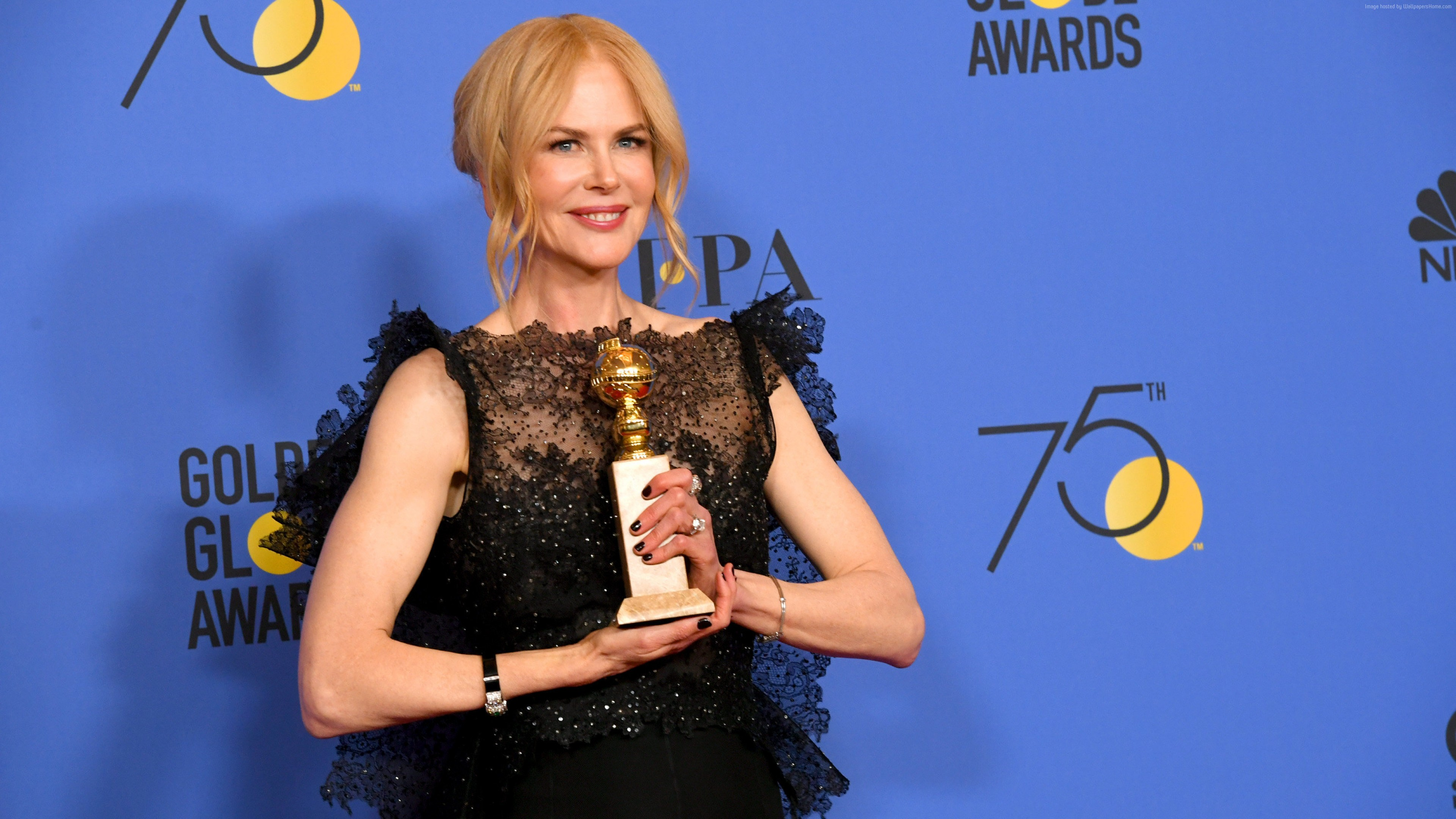 Wallpaper Nicole Kidman, photo, Golden Globes 2018, 4k, Girls