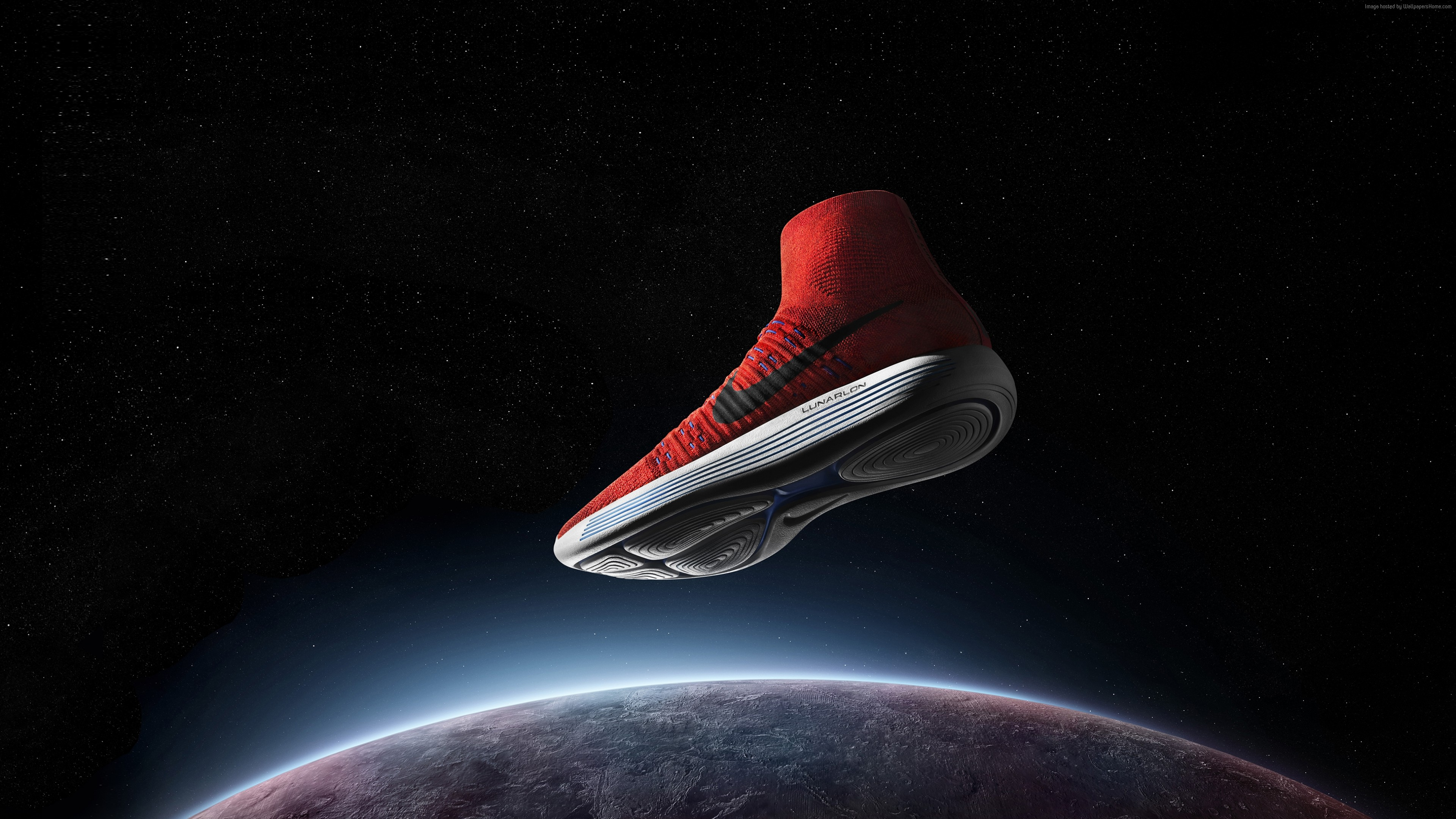 Wallpaper Nike LunarEpic FlyKnit, sneakers, space, Sport
