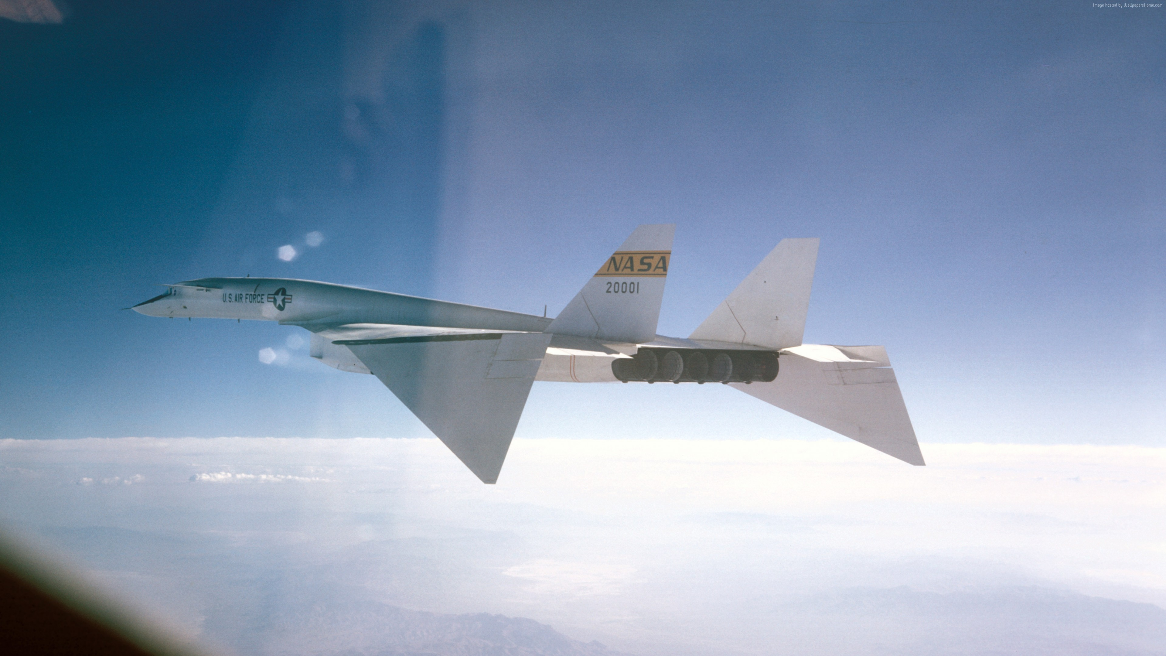 Wallpaper North American XB-70 Valkyrie, fighter aircraft, U.S. Air Force, Military