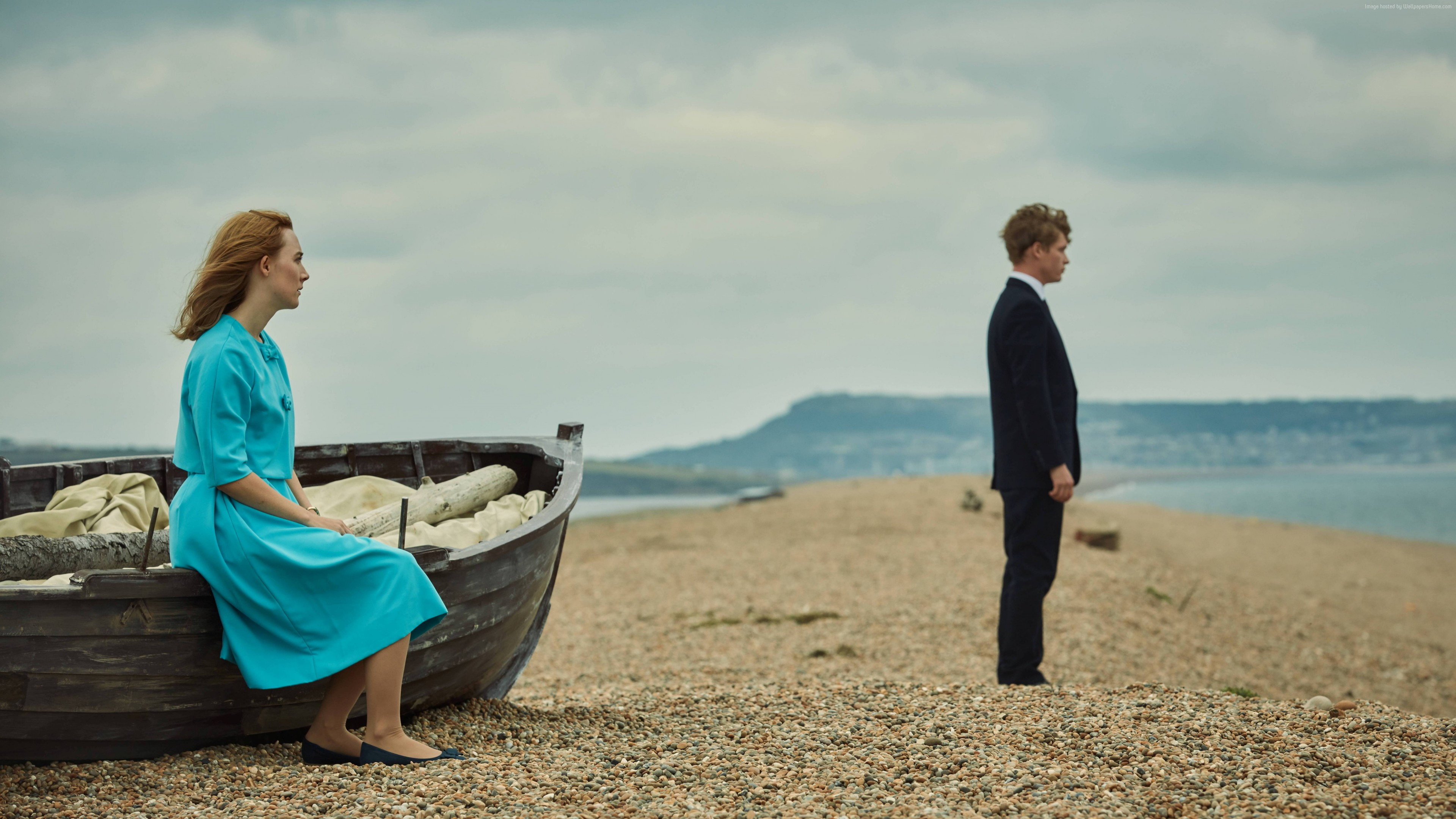 Wallpaper On Chesil Beach, Saoirse Ronan, Billy Howle, 4K, 8K, Movies