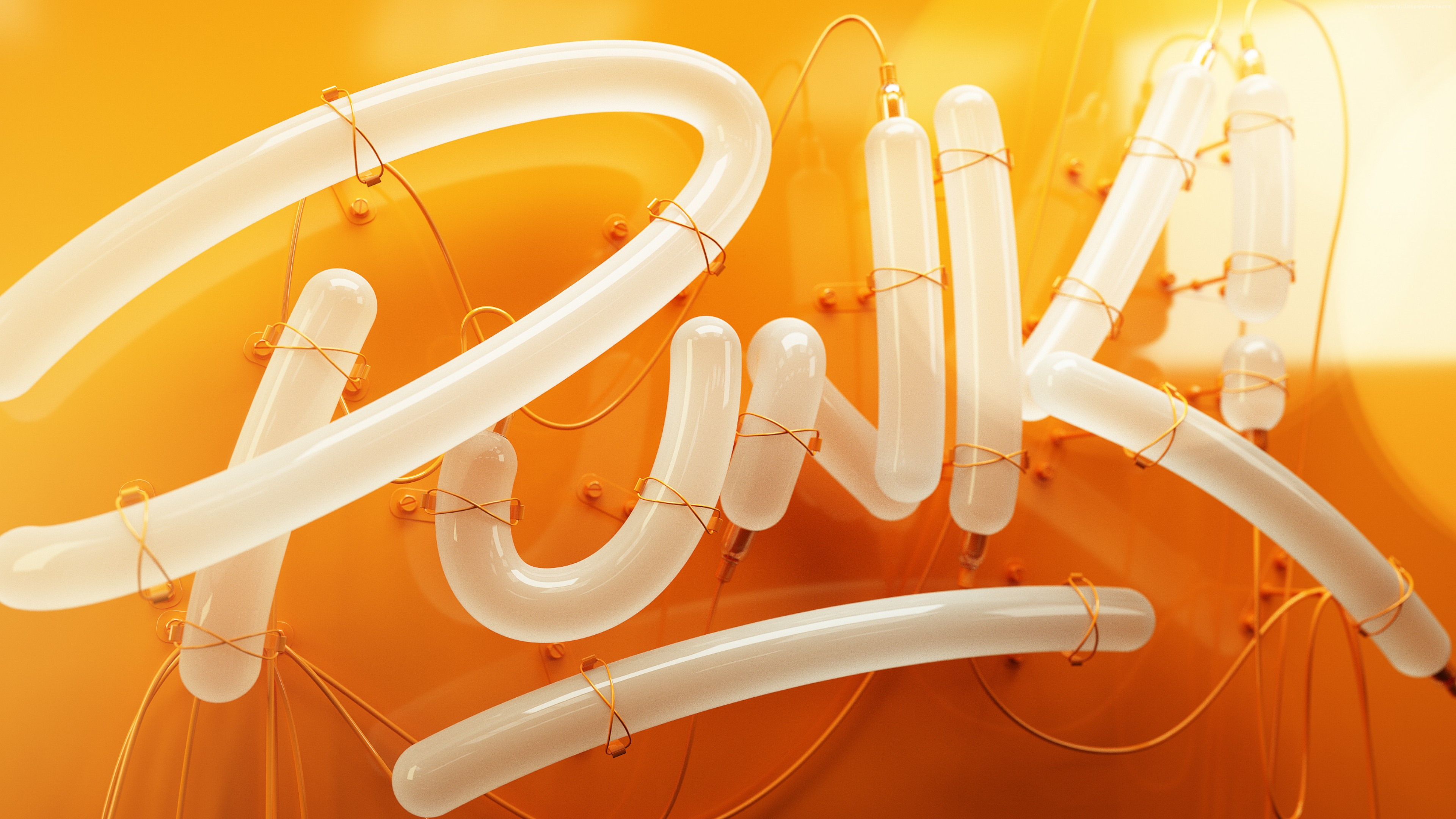 Wallpaper Punk, 3D letters, Typography, HD, Abstract