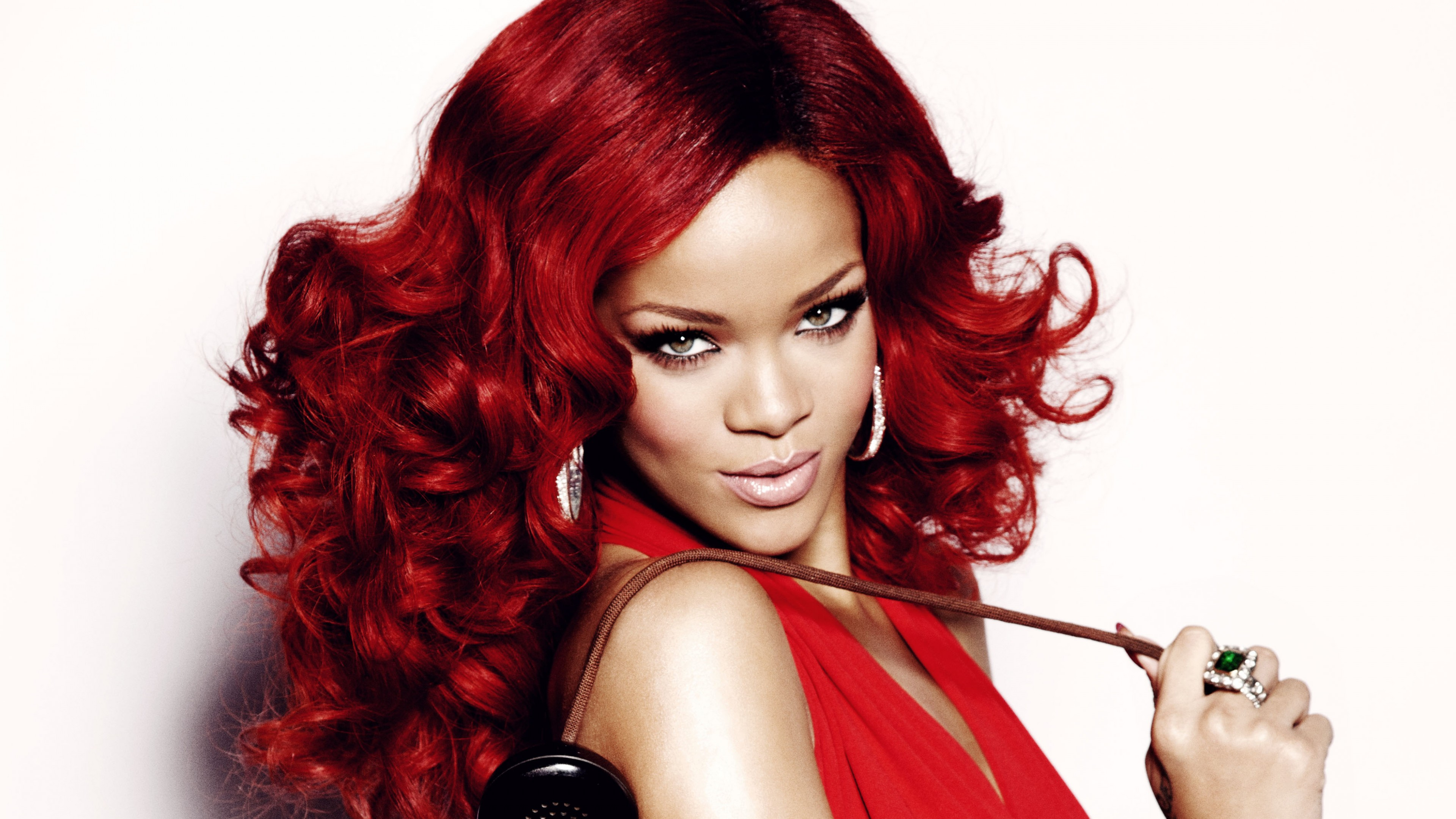 Wallpaper Rihanna, Most Popular Celebs in 2015, singer, music, actress, red hair, look, Music