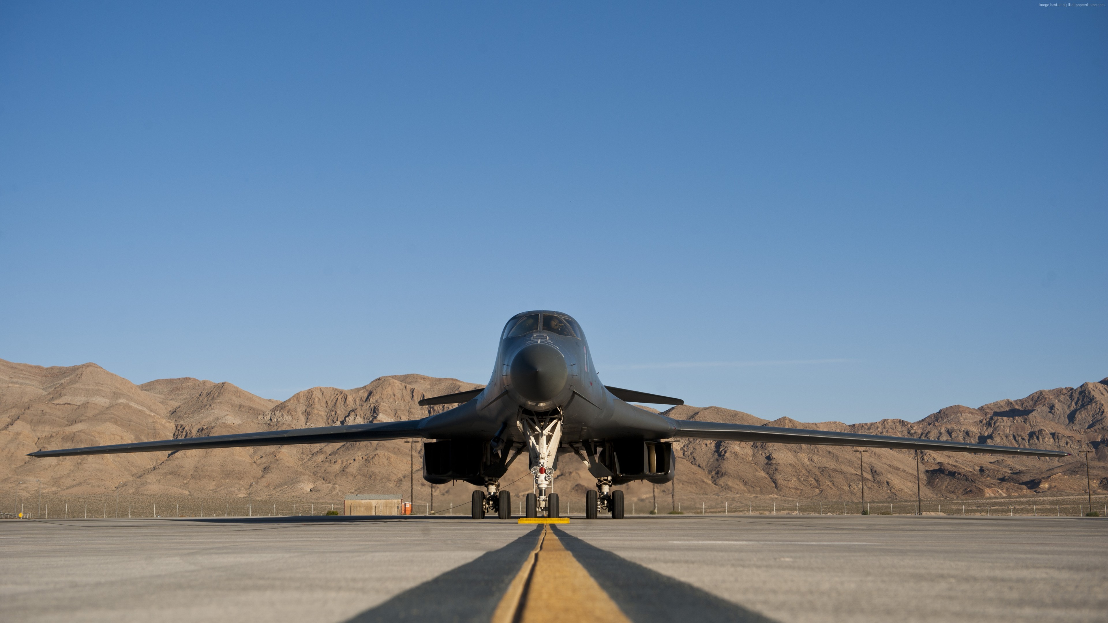 Wallpaper Rockwell B-1 Lancerr, fighter aircraft, U.S. Air Force, Military