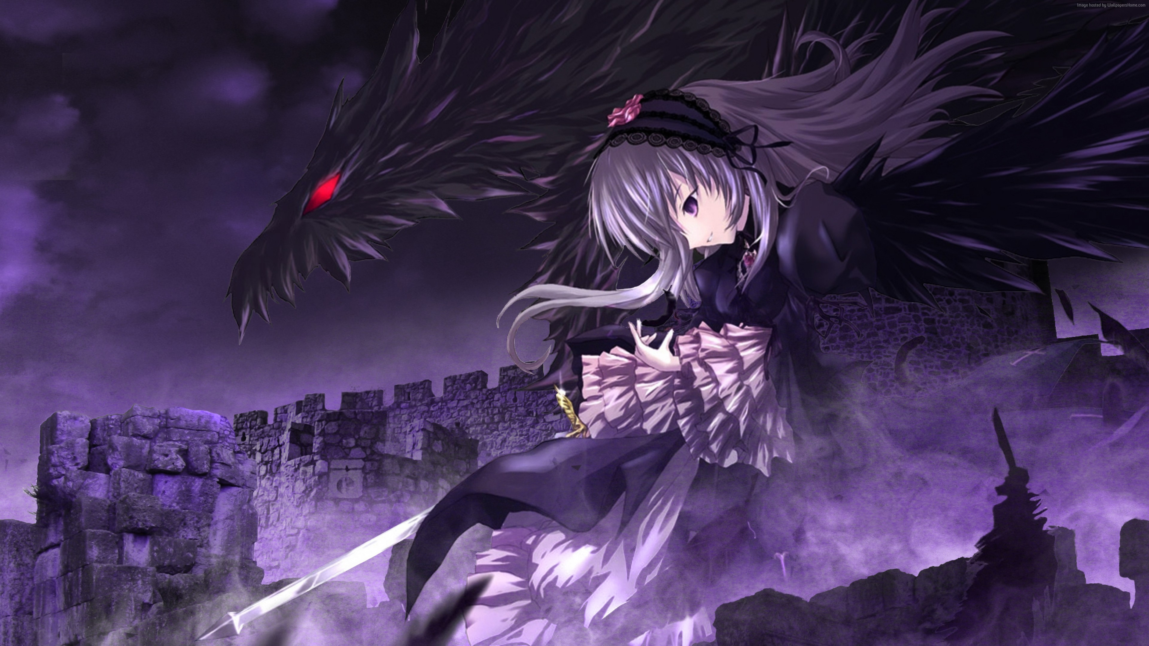 Wallpaper Rozen Maiden, girl, dragon, Art