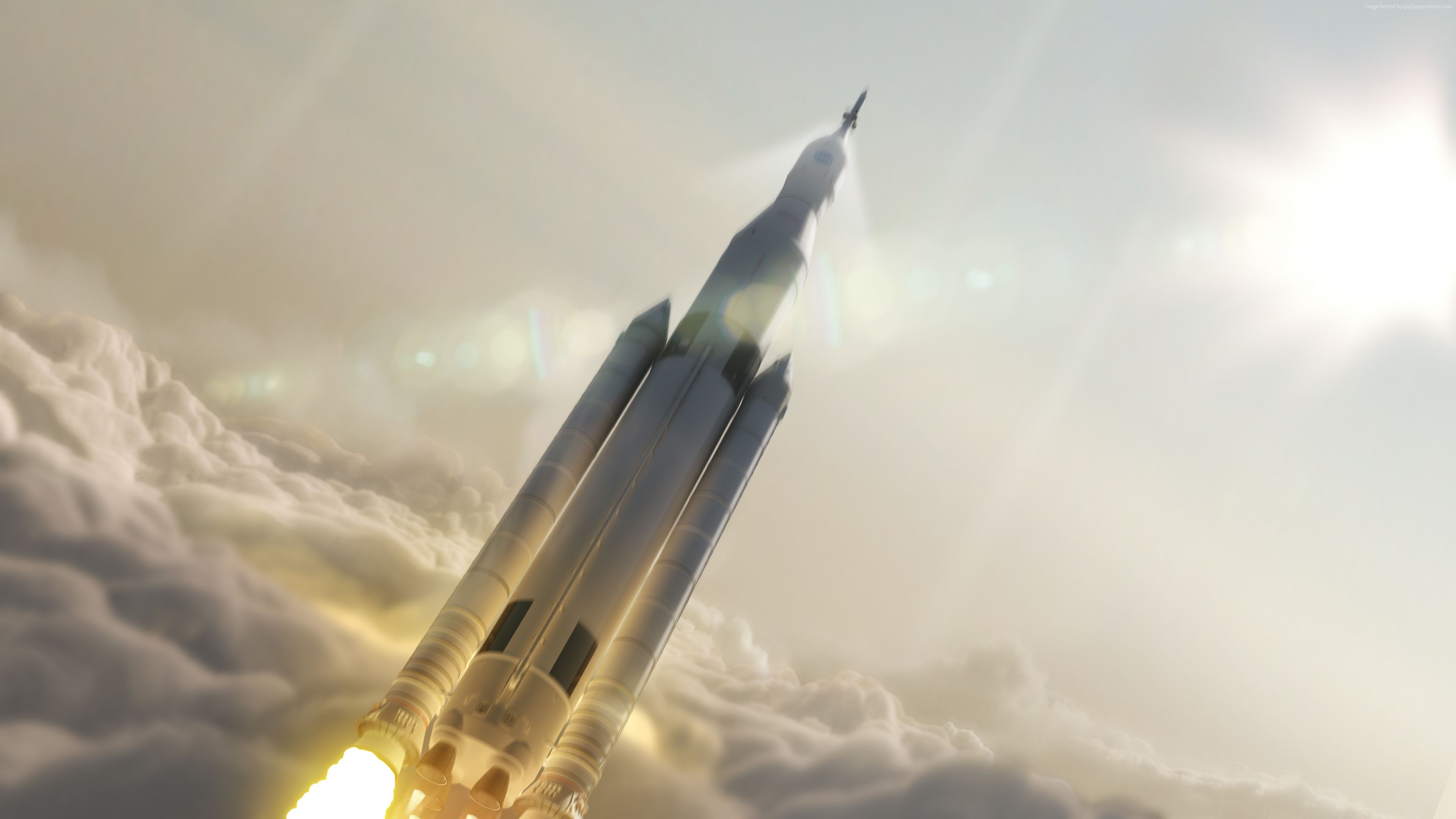 Wallpaper SpaceX, Falcon Heavy, ship, rocket, mars, mission, Space