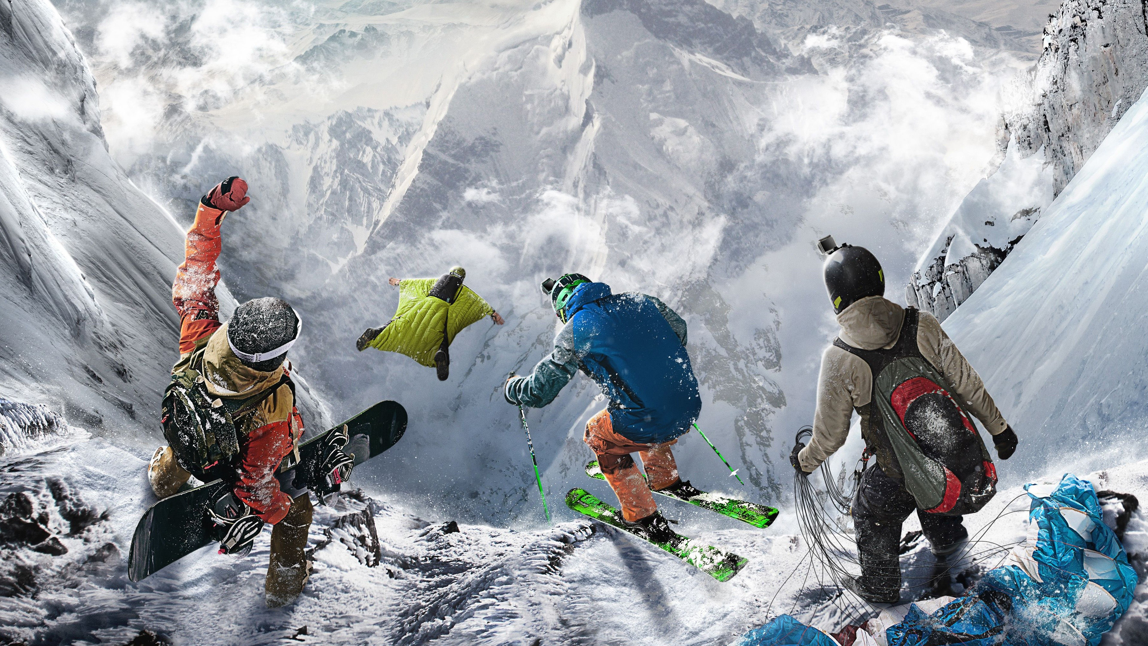 Wallpaper Steep, extreme, E3 2016, best games, PlayStation 4, Xbox One, Windows, Best Games, Sport