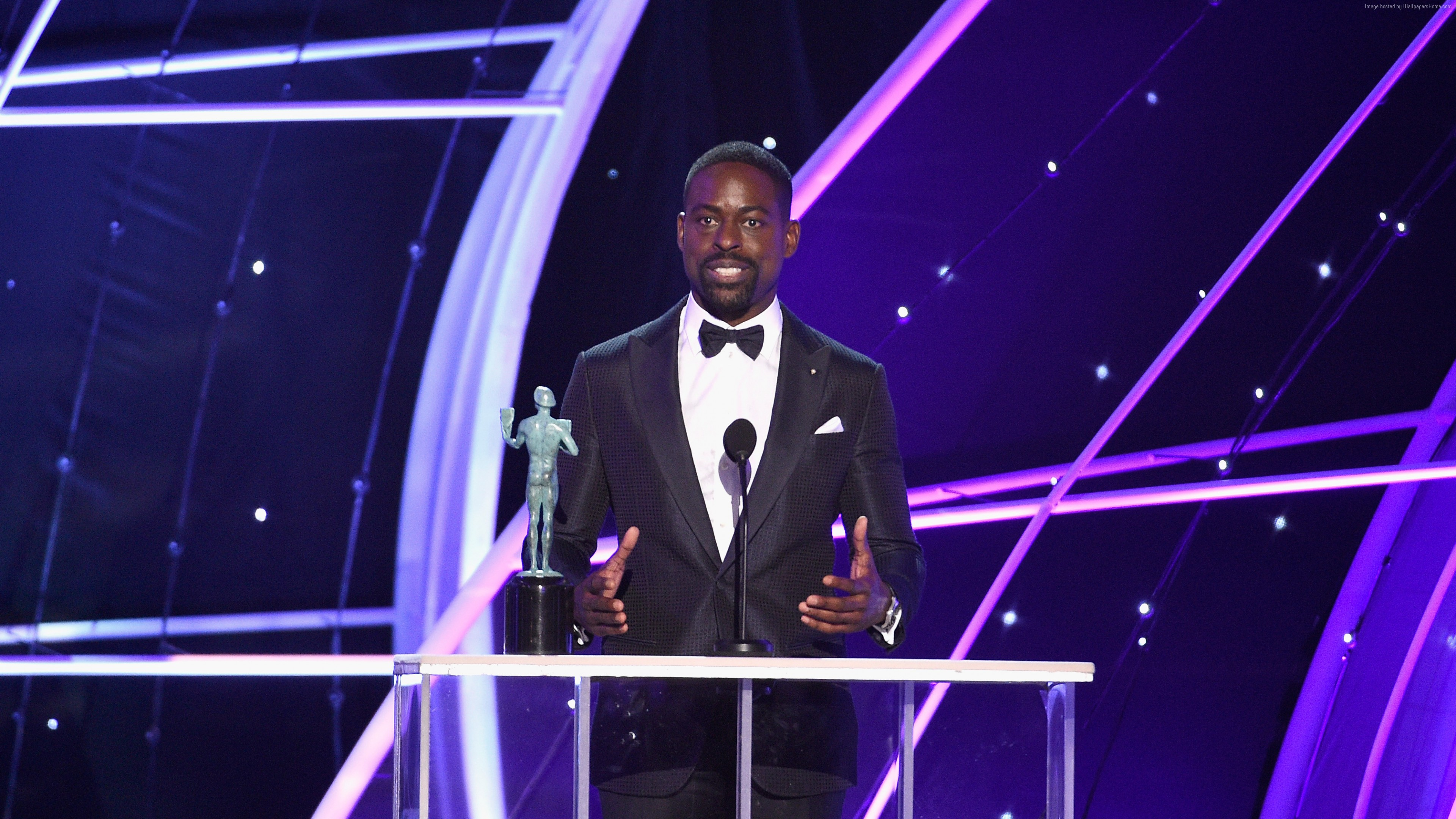 Wallpaper Sterling K. Brown, photo, Screen Actors Guild Awards 2018, 4k, Celebrities