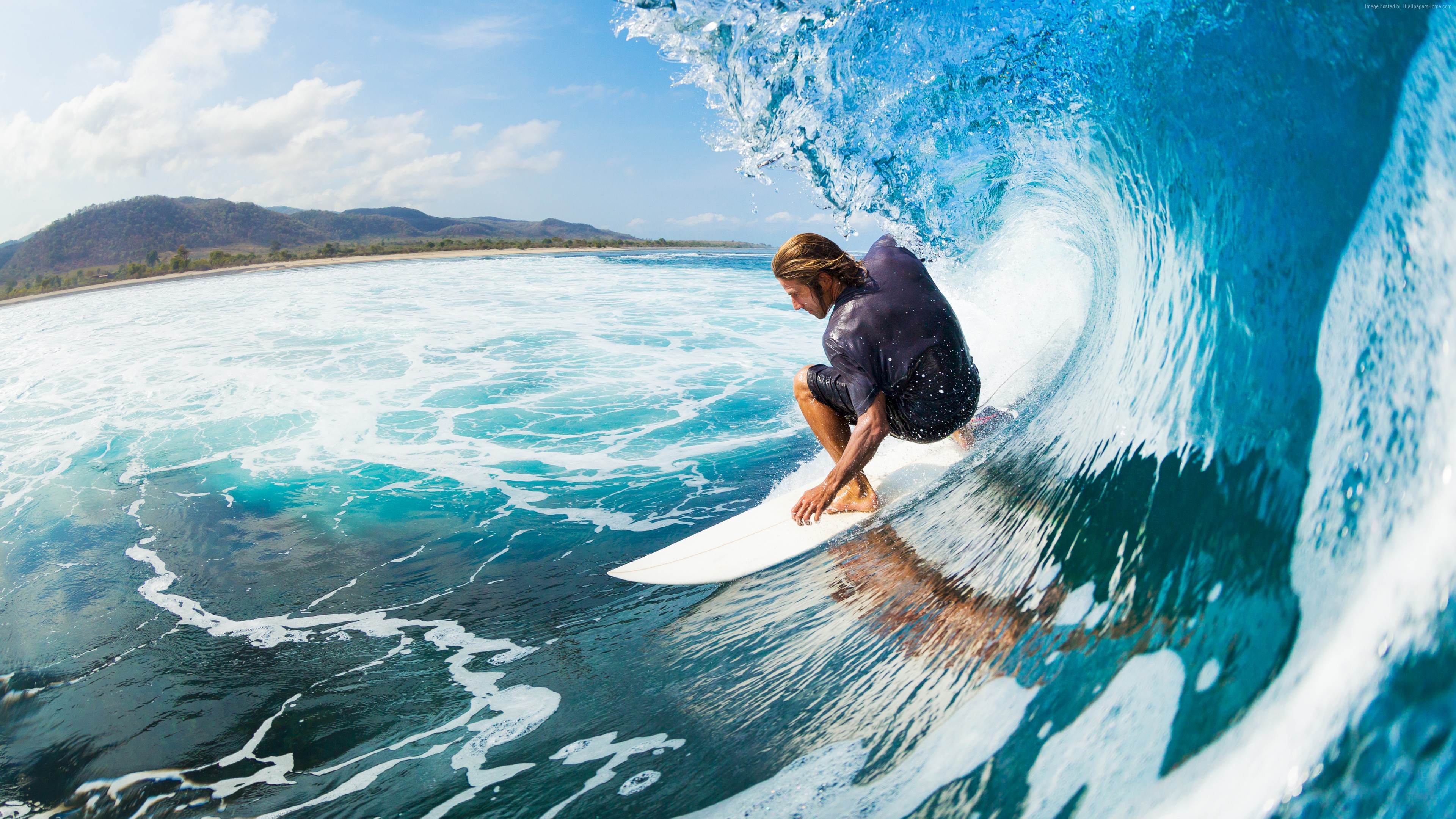 Wallpaper Surfing, man, sports, ocean, wave, Sport