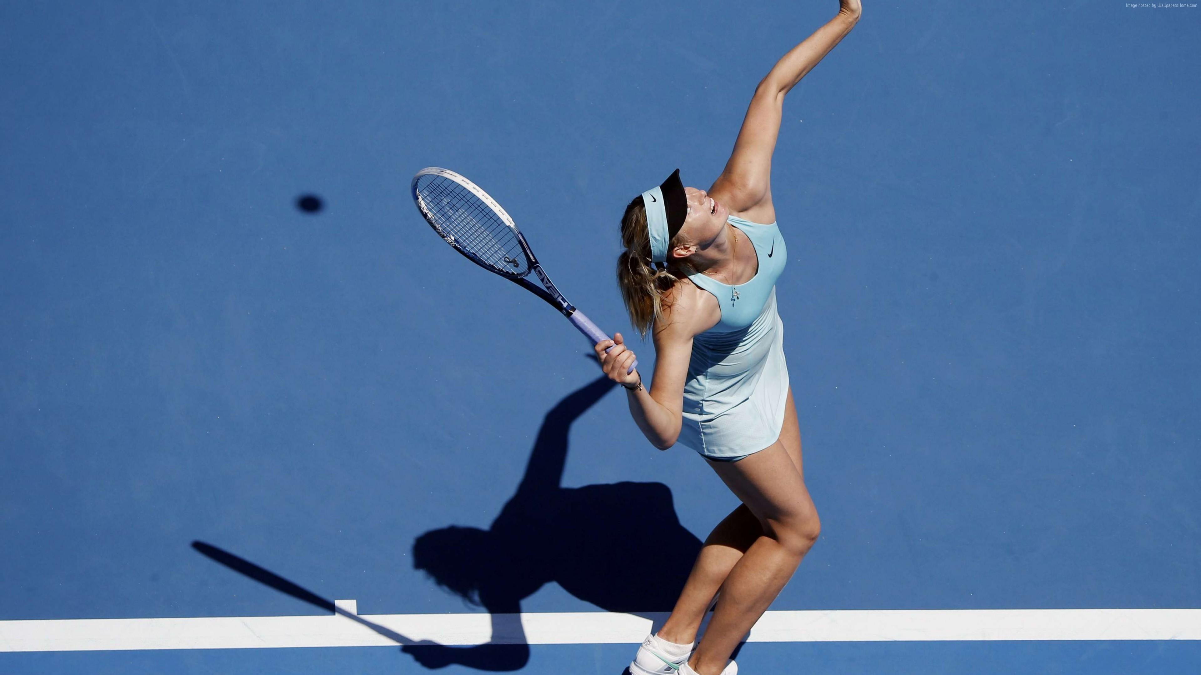 Wallpaper Tennis Sportswoman Maria Sharapova Court Racket Sport Wallpaper Download High Resolution 4k Wallpaper