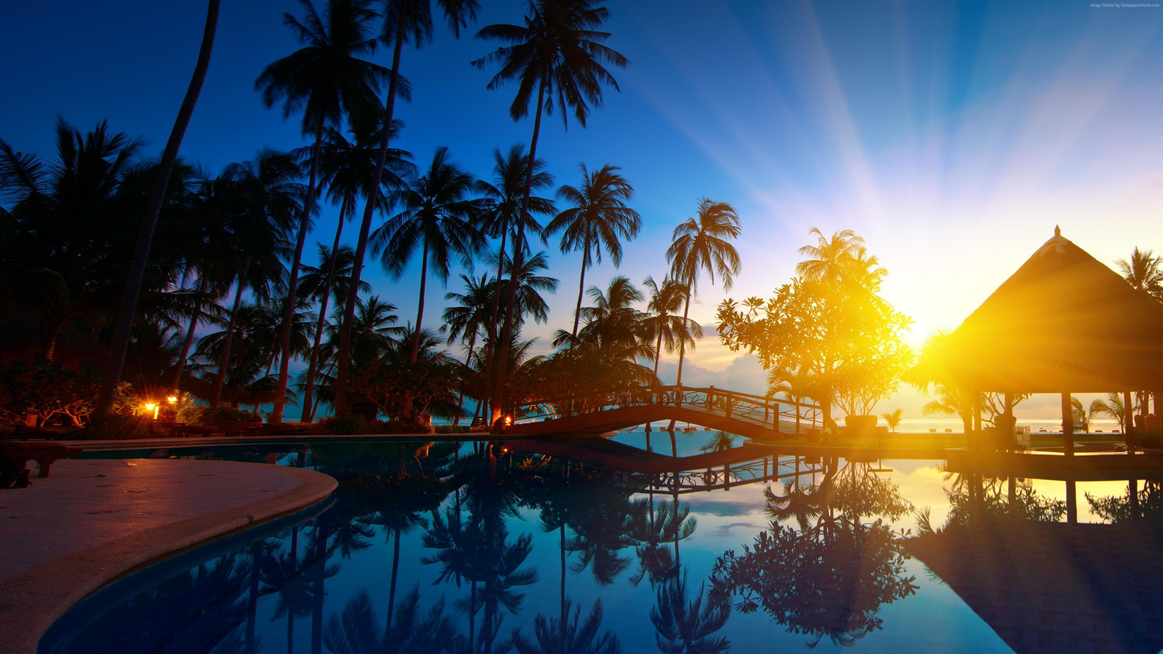 Wallpaper Thailand, hotel, ocean, beach, vacation, 5k, 4k, Travel ...