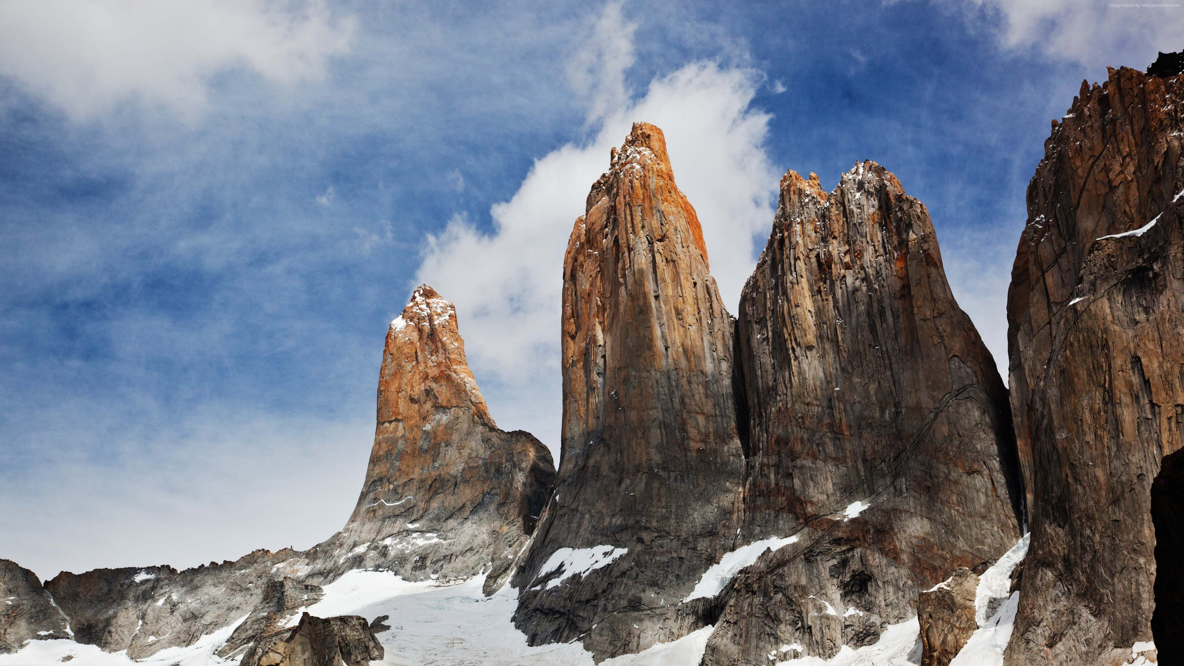 Wallpaper Torres del Paine, Chile, sky, mountains, 4k, Travel