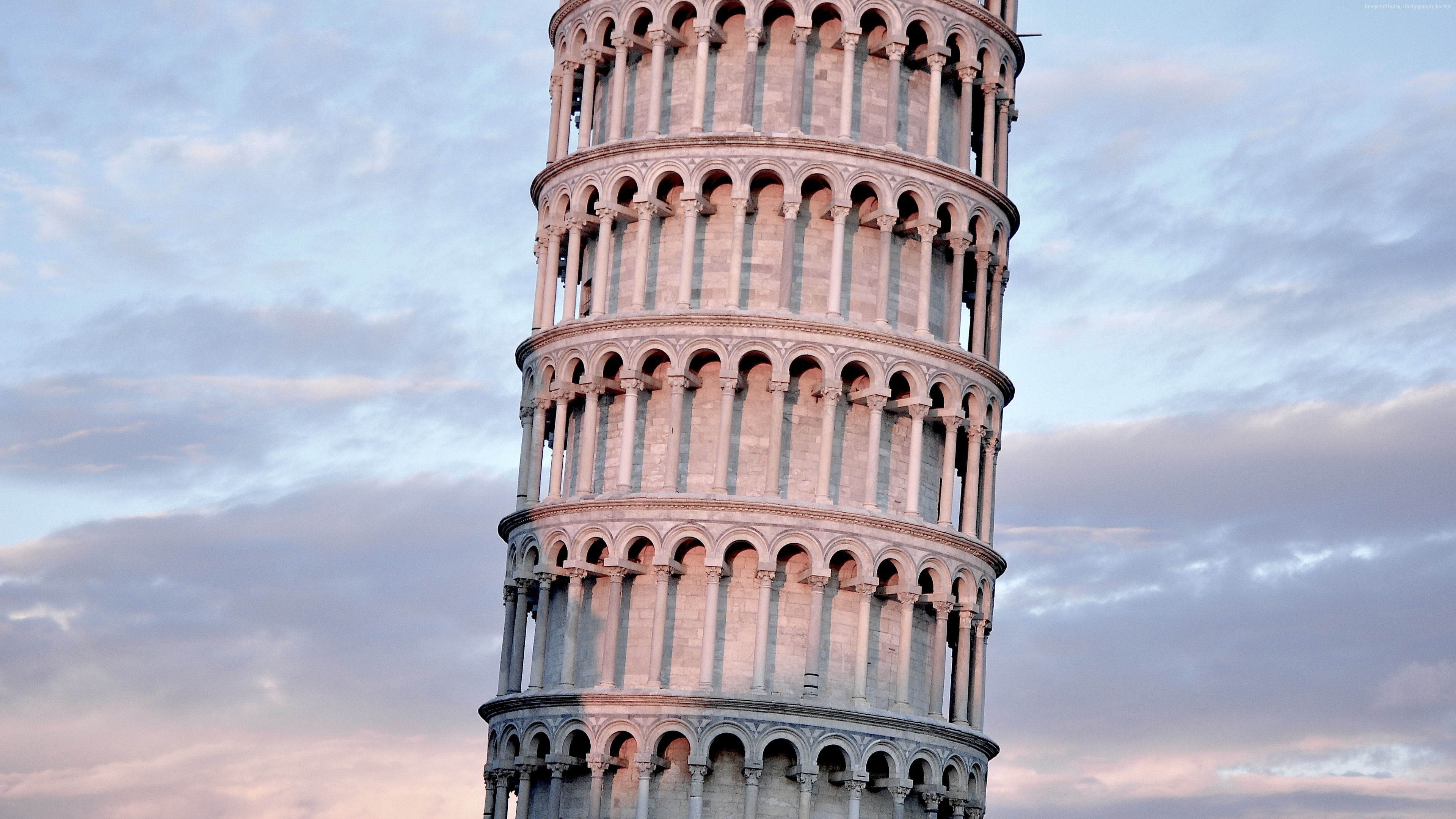 Wallpaper Tower of Pisa, Pisa, Italy, Europe, travel, tourism, Leaning Tower of Pisa, Architecture