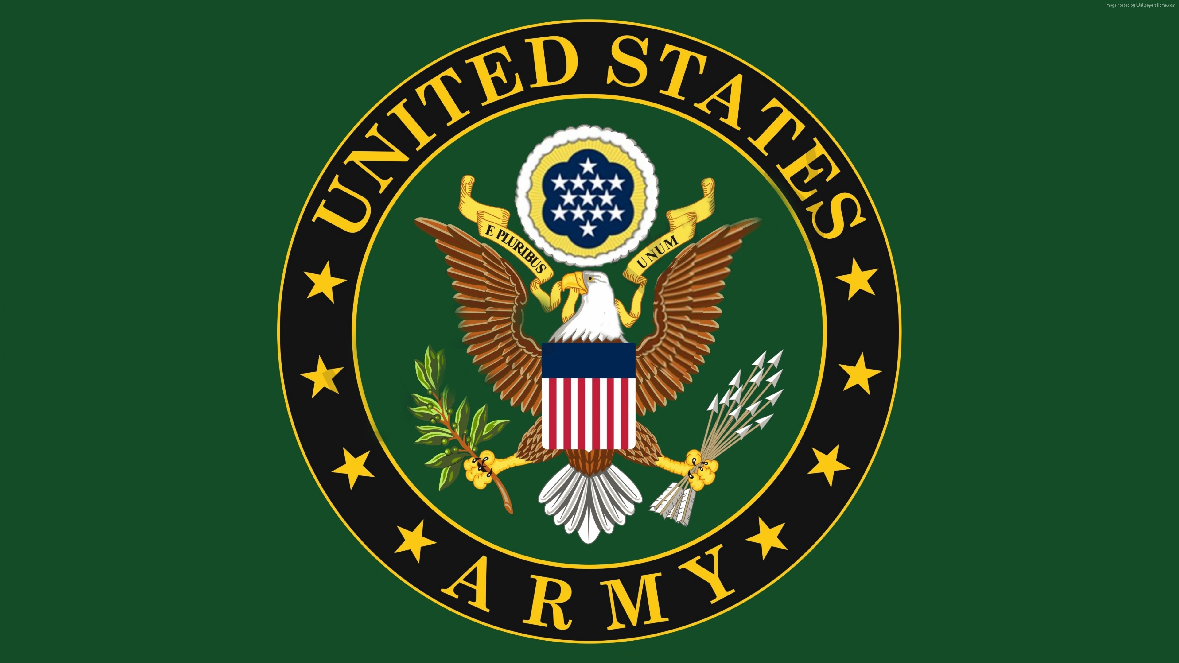 Wallpaper U.S. Army, logo, eagle, Military
