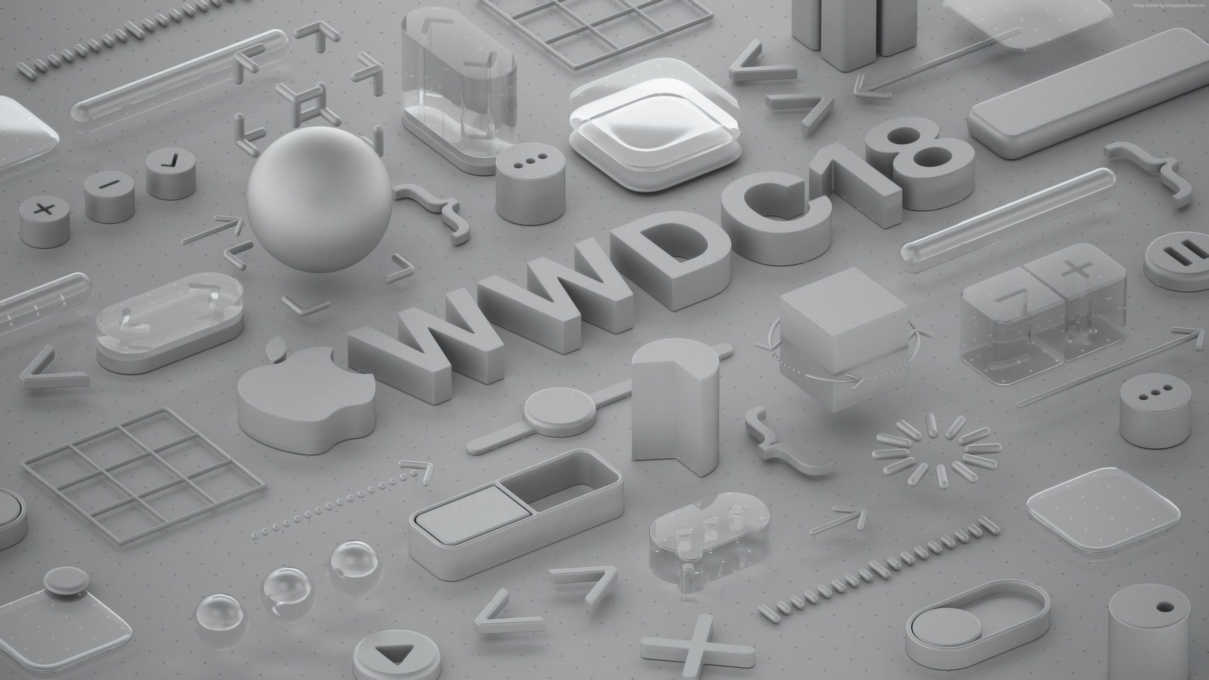 Wallpaper WWDC 2018, Matte, 3D, 4K, Hi-Tech
