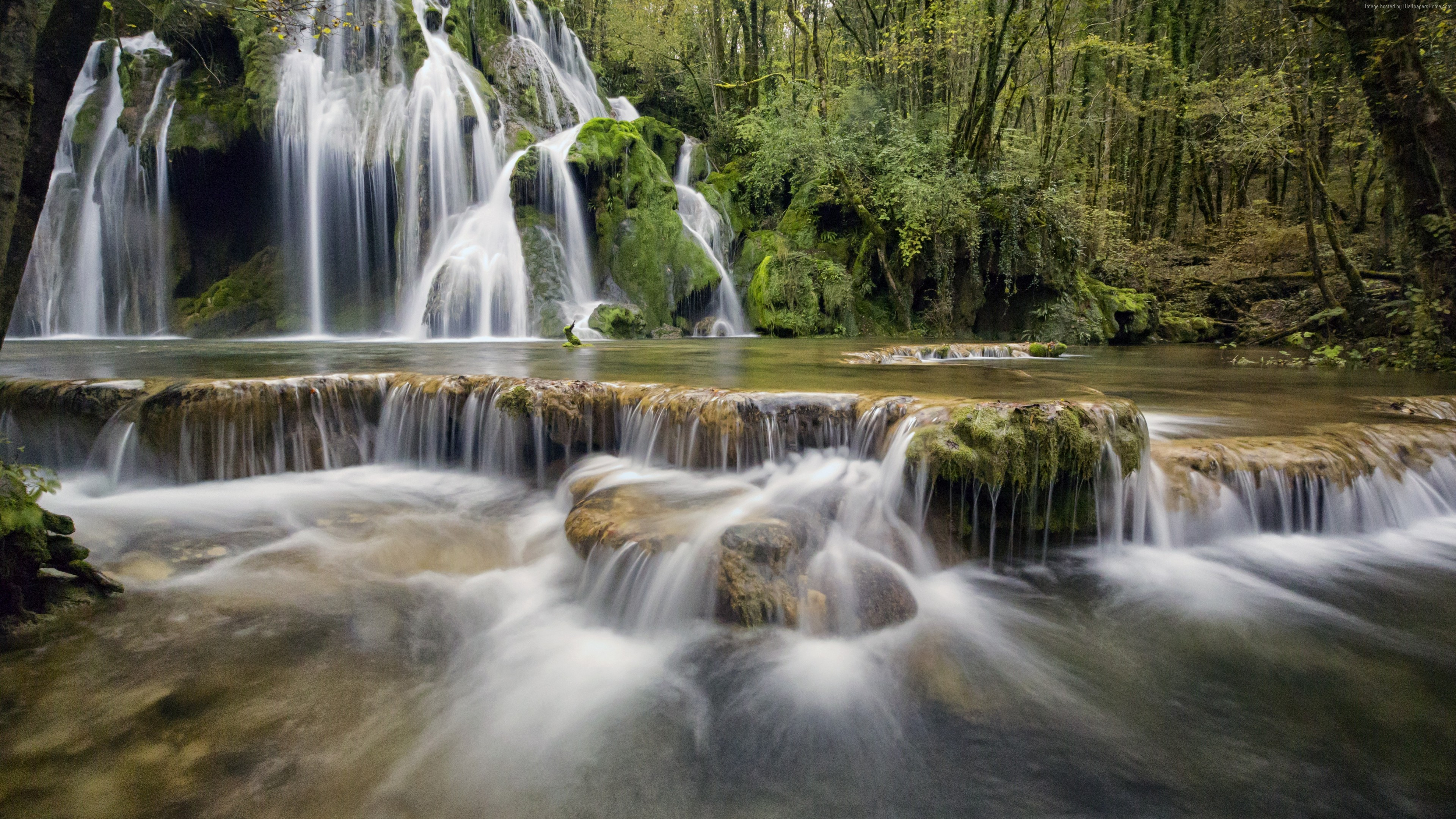 Wallpaper Waterfall, Europe, 4K, Nature