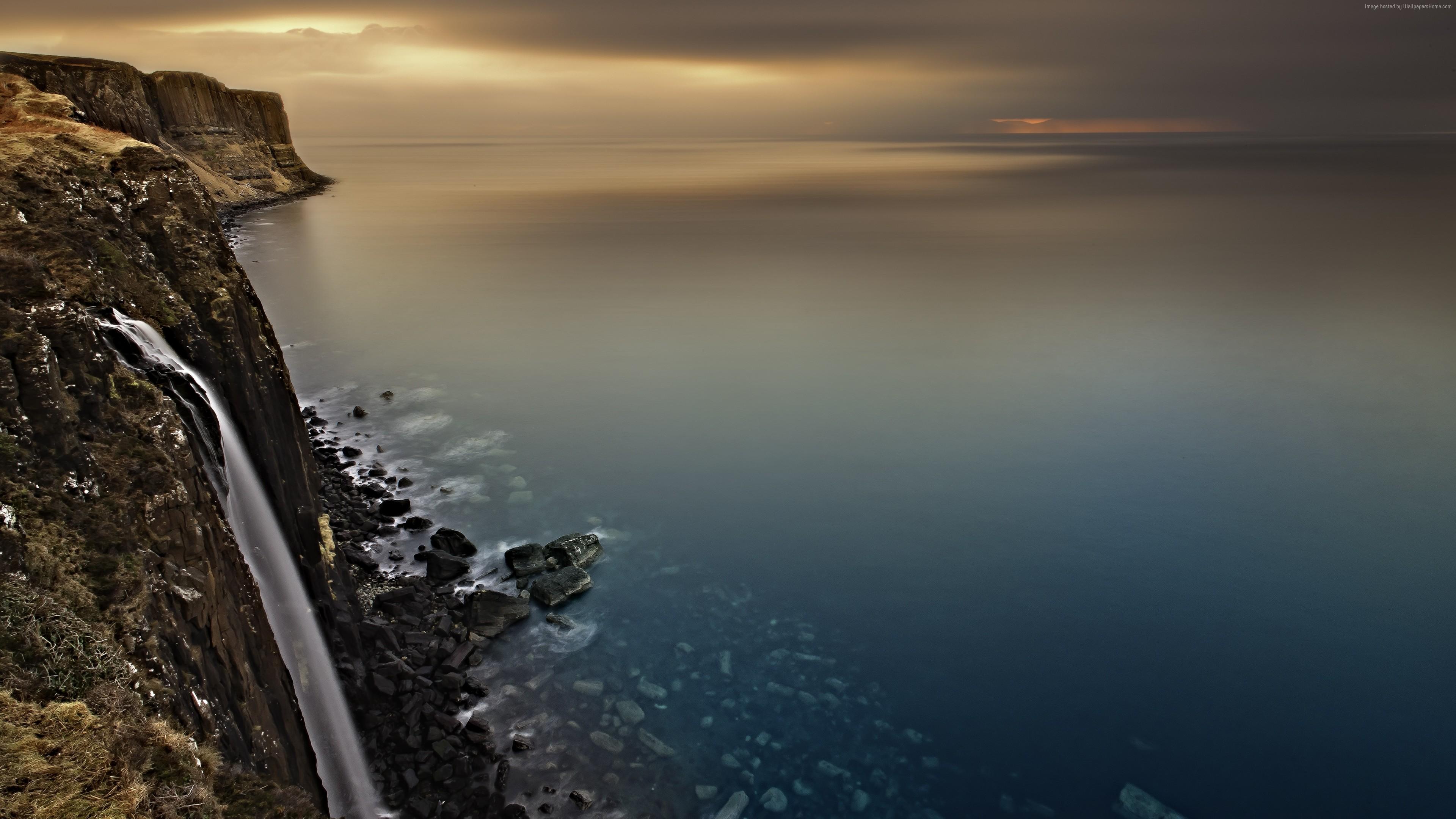 Wallpaper Waterfall Scotland Isle Of Skye Europe 4k Travel 4k