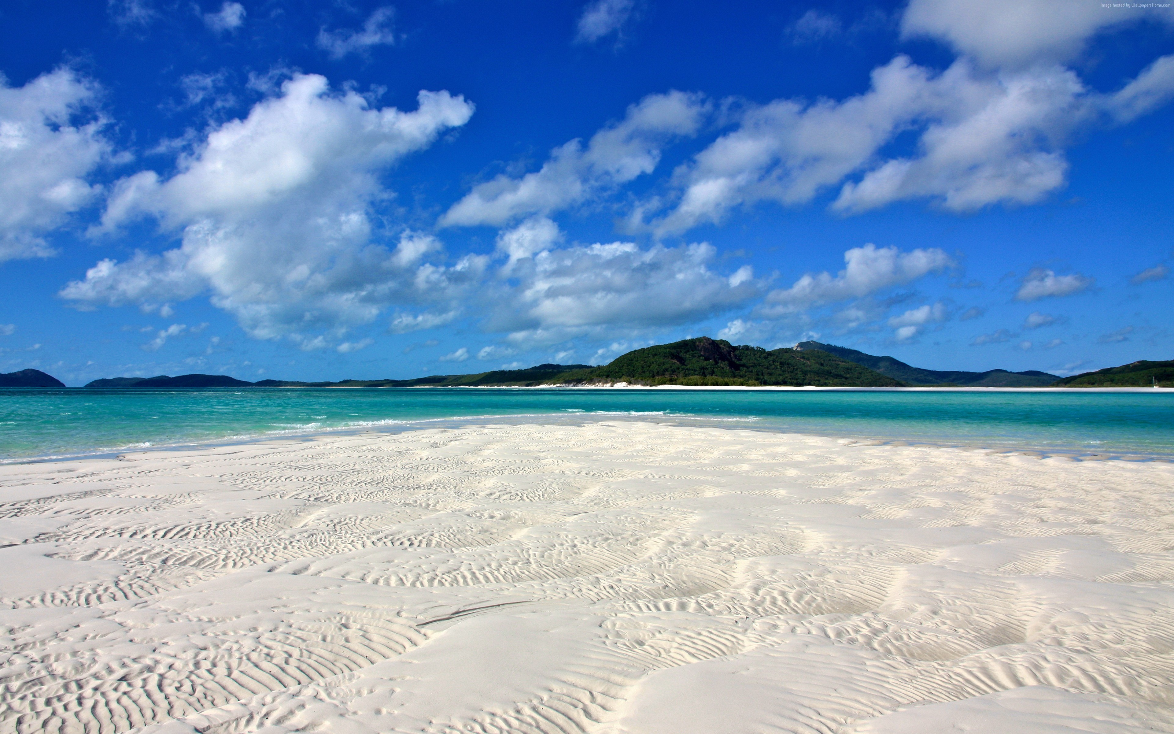 Wallpaper Whitehaven Beach, Whitsunday Island, Best beaches of 2016, Travellers Choice Awards 2016, Travel