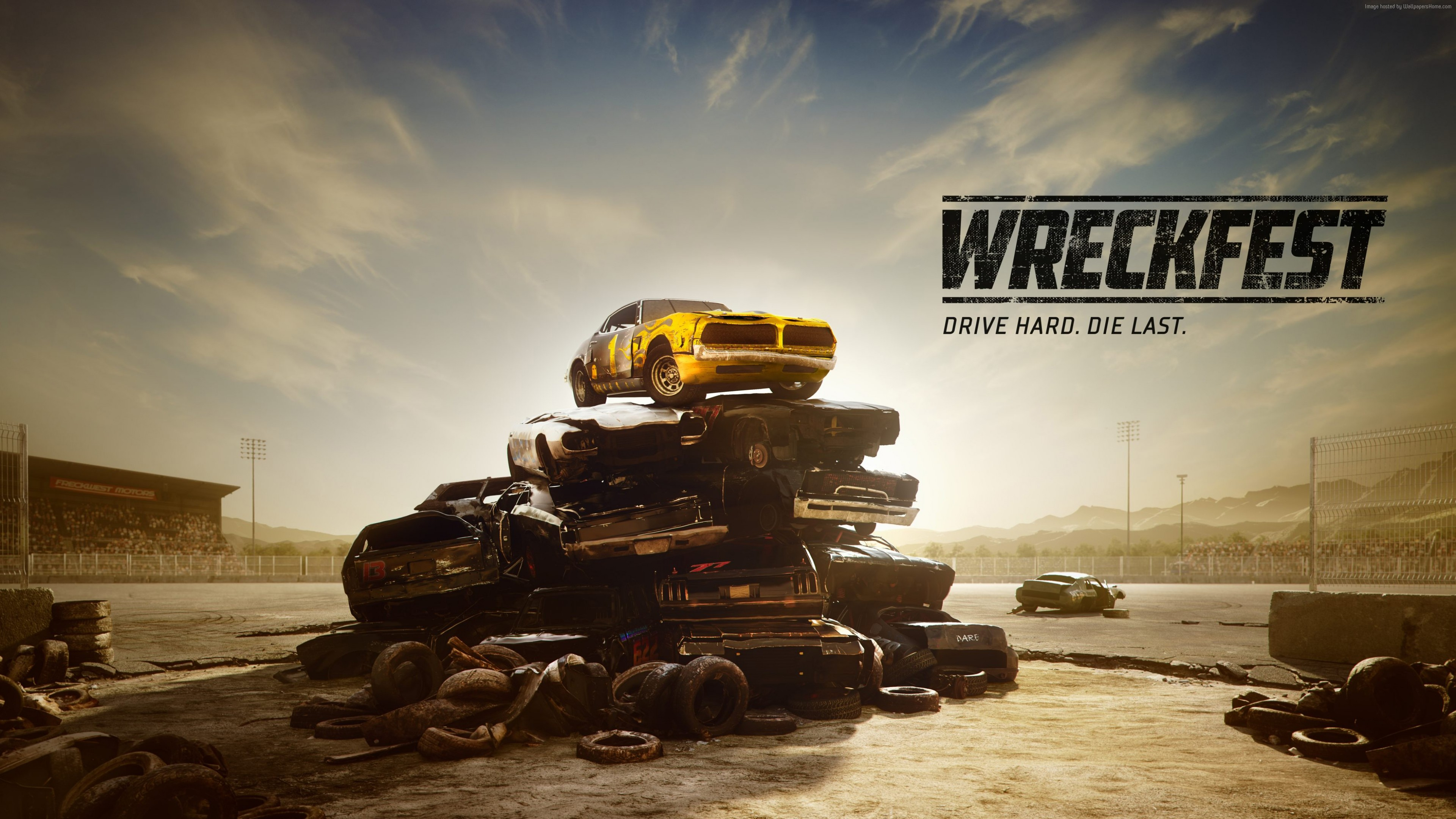 Wallpaper Wreckfest, Next Car Game, E3 2018, poster, 4K, Games